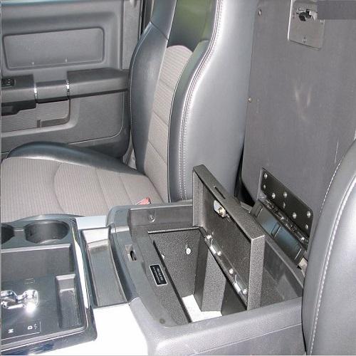 Console Vault Floor Console Gun Safe For 09 16 Dodge Ram W