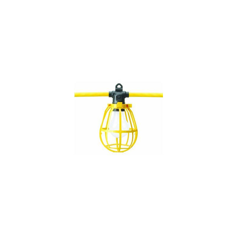 Construction Site String Lights: Cord O Lite Construction String Lights, Yellow, 100ft