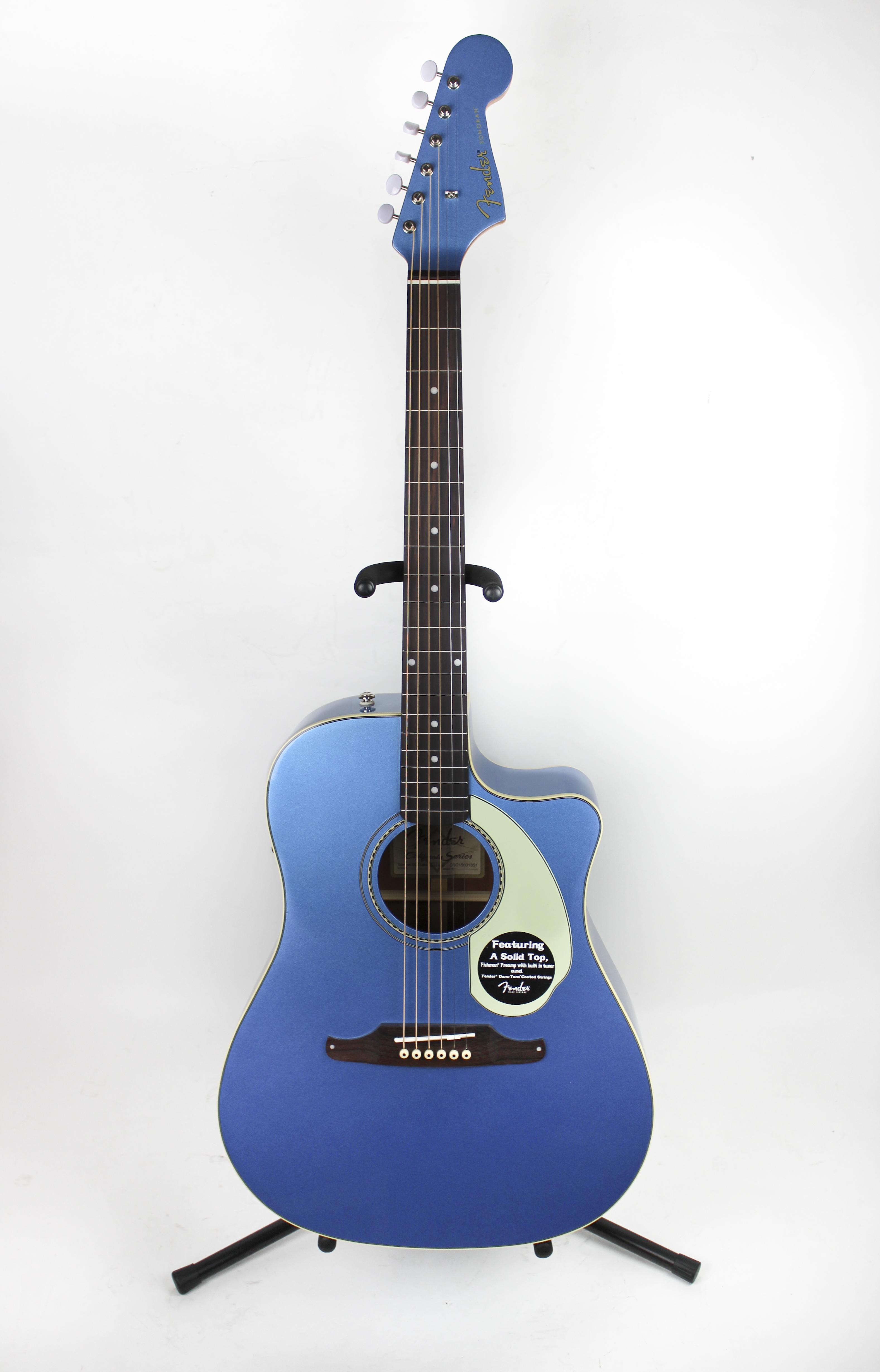fender sonoran sce acoustic electric guitar lake placid blue v2 ebay. Black Bedroom Furniture Sets. Home Design Ideas