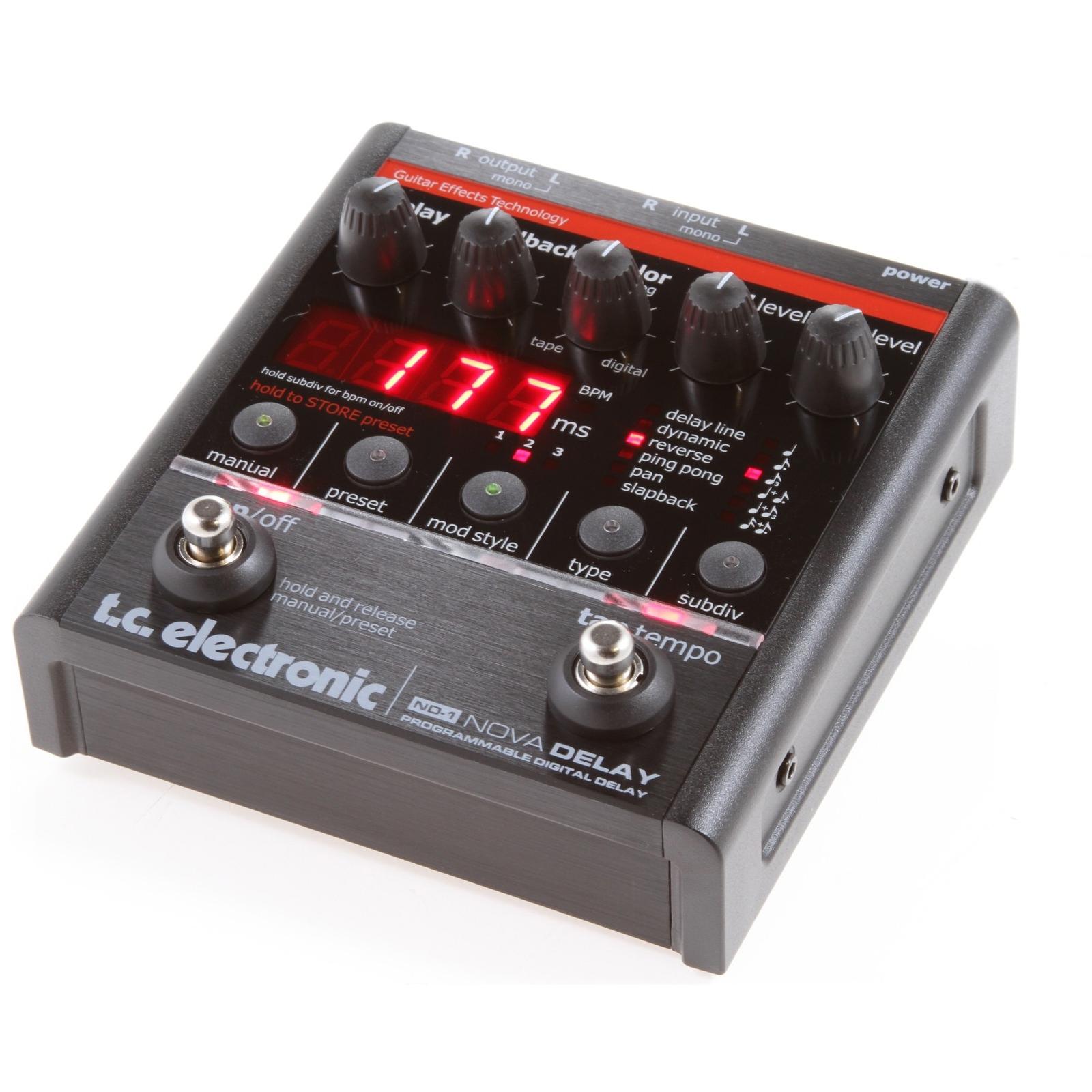 tc electronic nd 1 nova delay guitar pedal b stock ebay. Black Bedroom Furniture Sets. Home Design Ideas