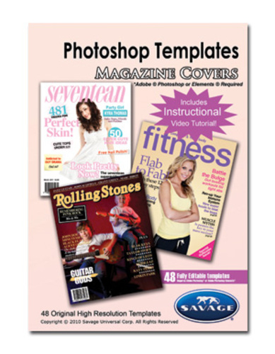 savage adobe photoshop templates magazine covers ebay. Black Bedroom Furniture Sets. Home Design Ideas