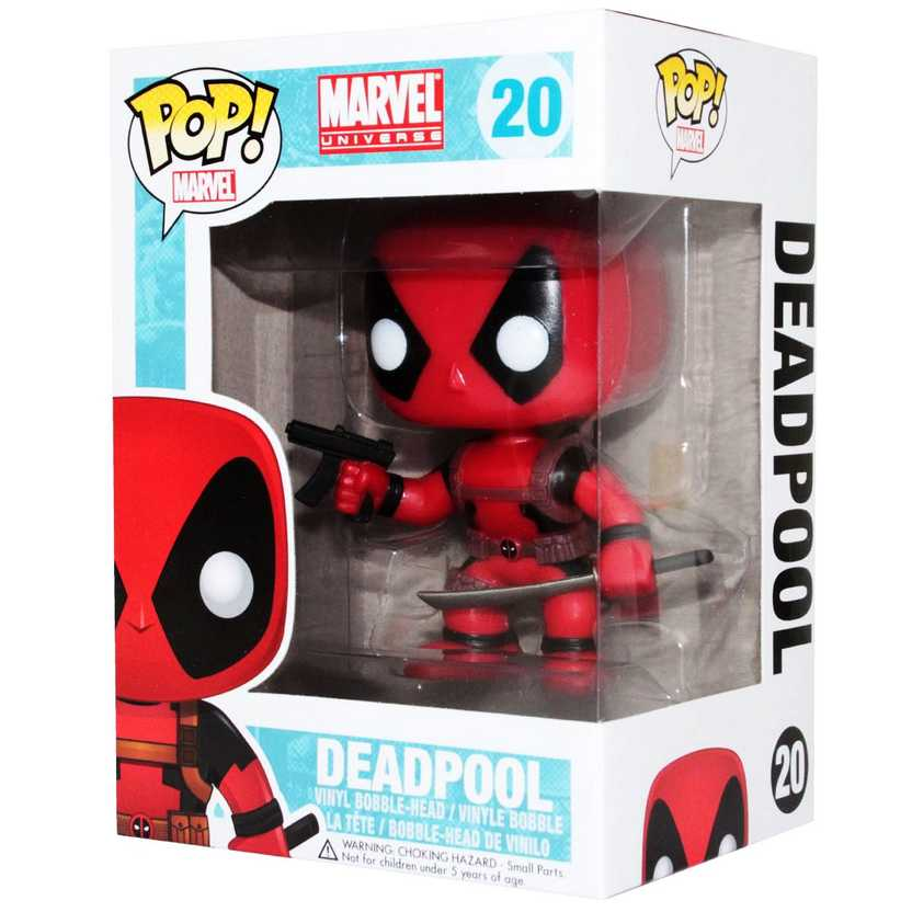 Funko Pop Superstore Toys Comics Collectibles: Funko Pop Marvel Comics Deadpool Bobble Head Vinyl Action