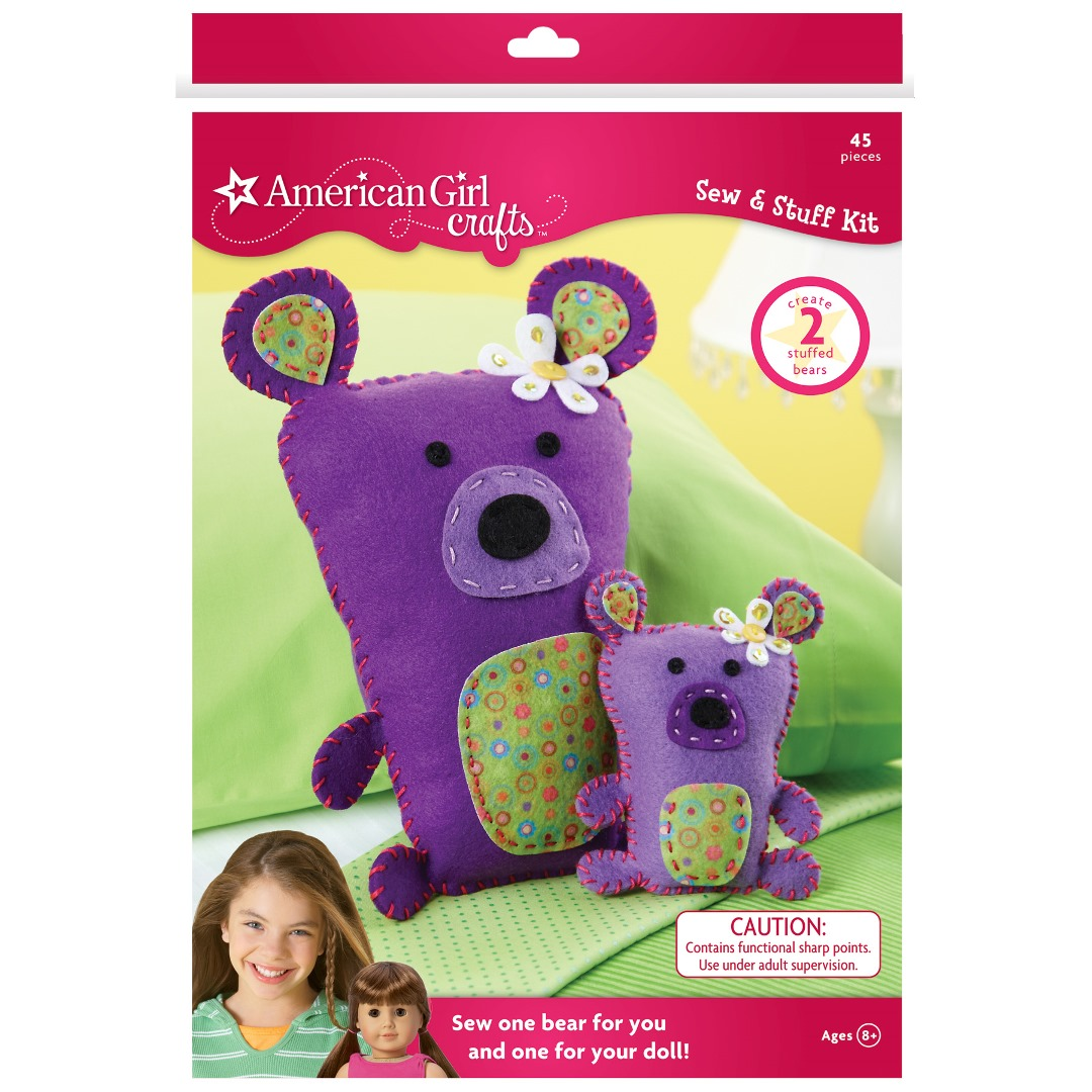 american girl crafts american crafts sew amp stuff kit sewing doll 1043