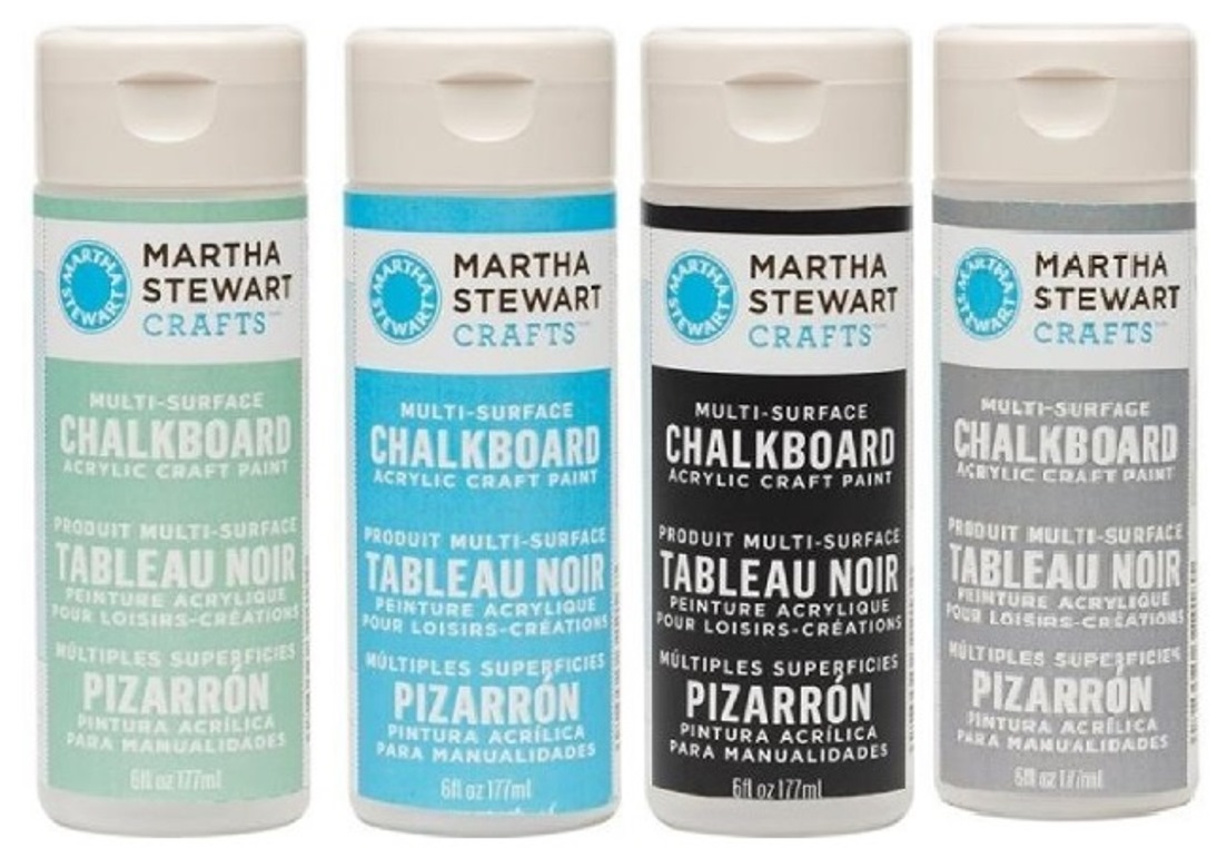 martha stewart acrylic chalkboard paint craft select your color ebay