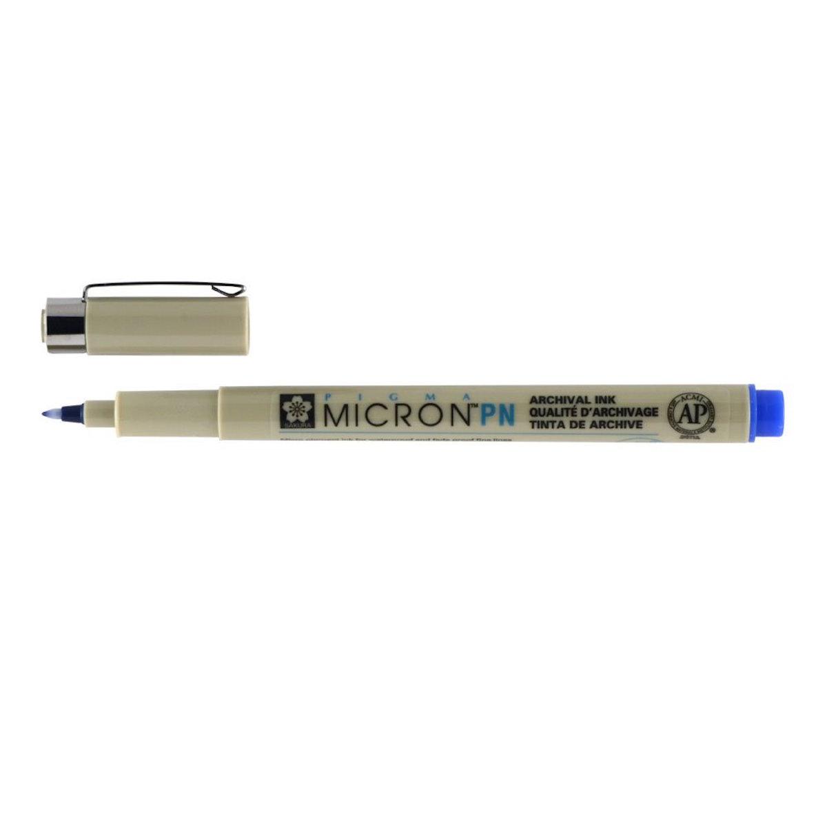 Pigma® Micron® PN Plastic Nib - BLUE Waterproof Archival Pen