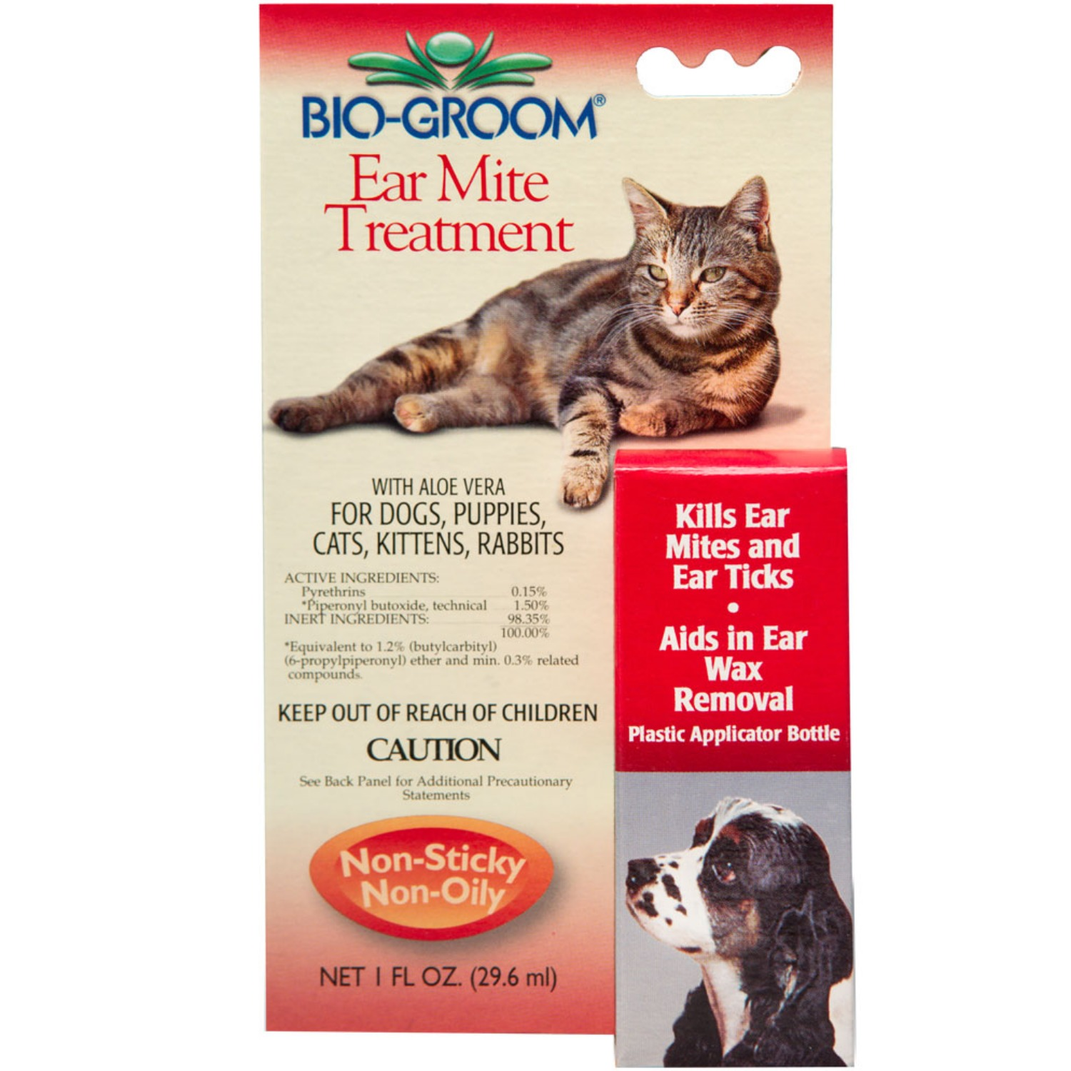 Details about Bio-Groom Natural Ear Mite Treatment 1 oz | Aloe Vera | For  Pets of All Ages