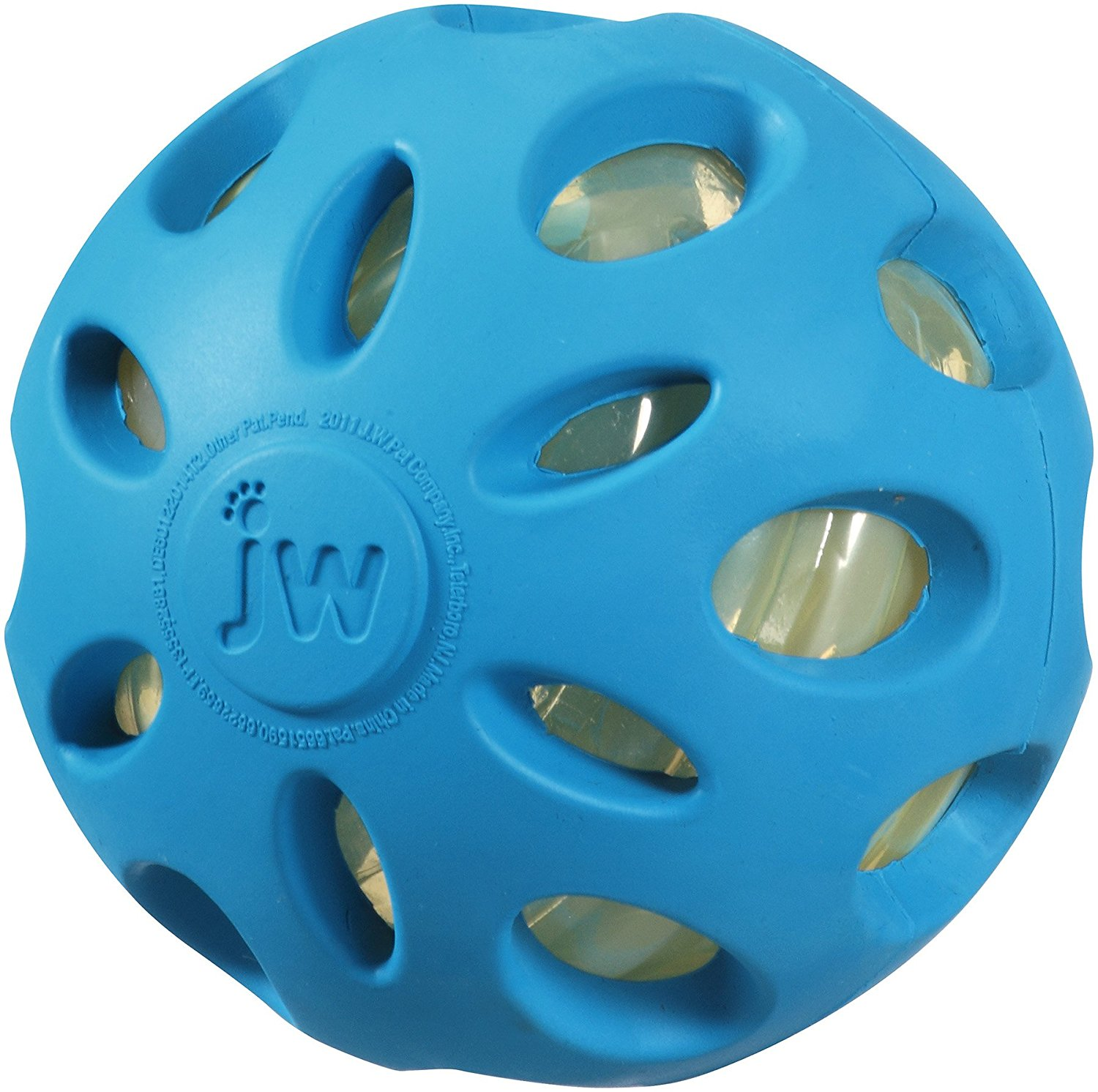 Pet Supplies Jw Pet Crackle Heads Ball Rubber Durable Fetch Chew Dog