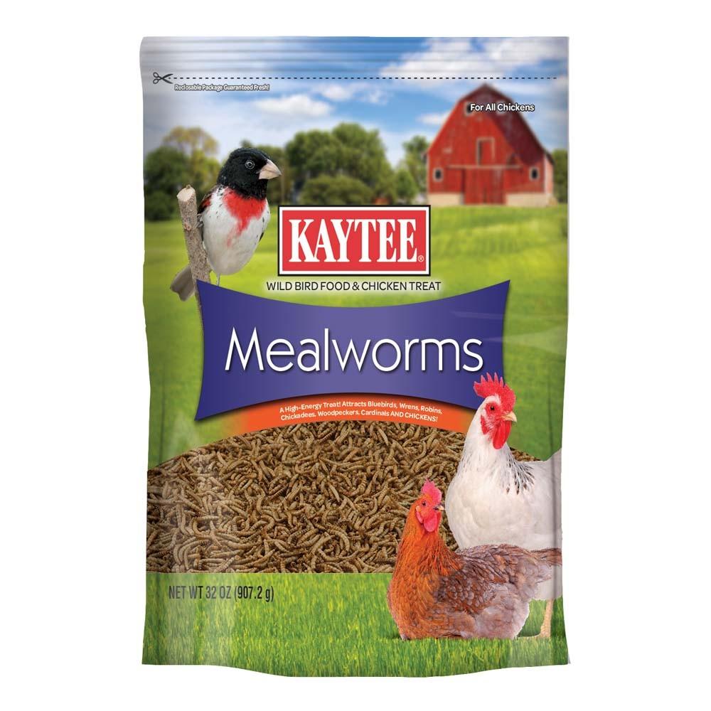Kaytee Cibo Wild Bird Mealworm Marsupio ad alto contenuto proteico CORTILE POLLI Seed 32 OZ