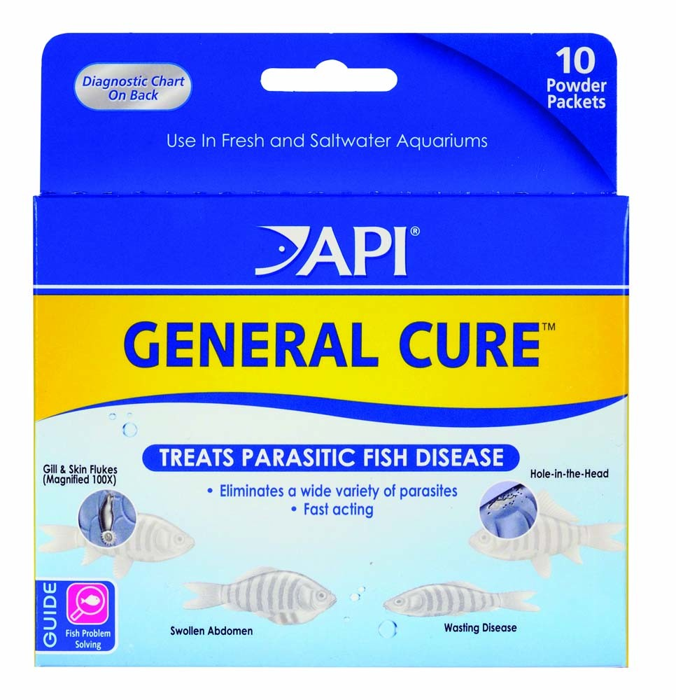Details about API General Cure Powder 10 count | For Freshwater and  Saltwater Fish Aquariums