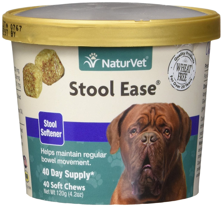Naturvet Stool Ease Dog Poop Softener Bowel Movement 40