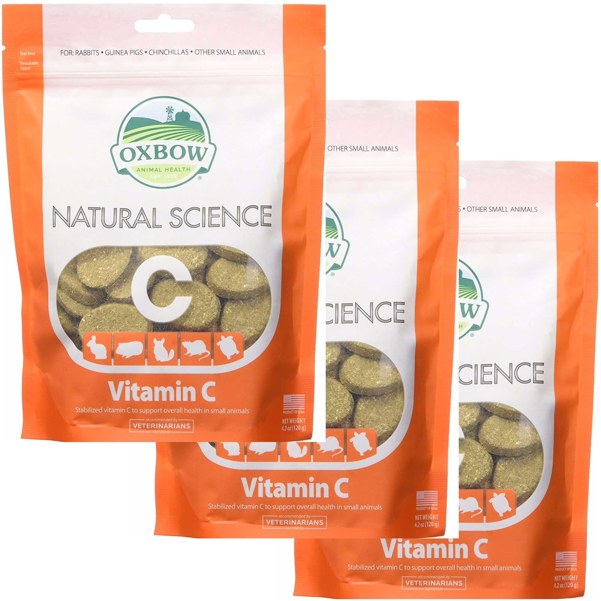 3 Pack) Oxbow Natural Science Small Animal Vitamin C Supplement - 60 count  | eBay