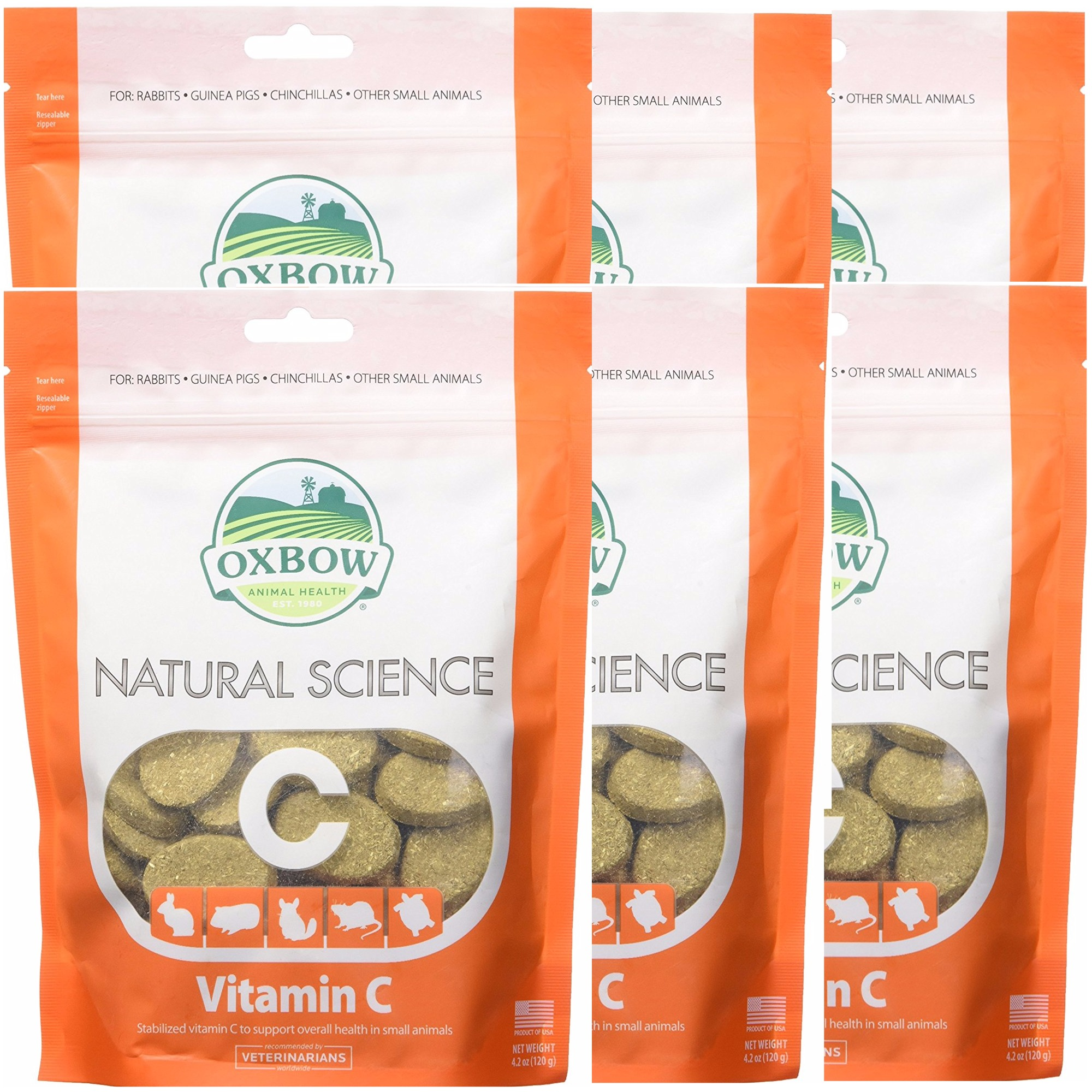 6 Pack) Oxbow Natural Science Small Animal Vitamin C Supplement - 60 count  | eBay
