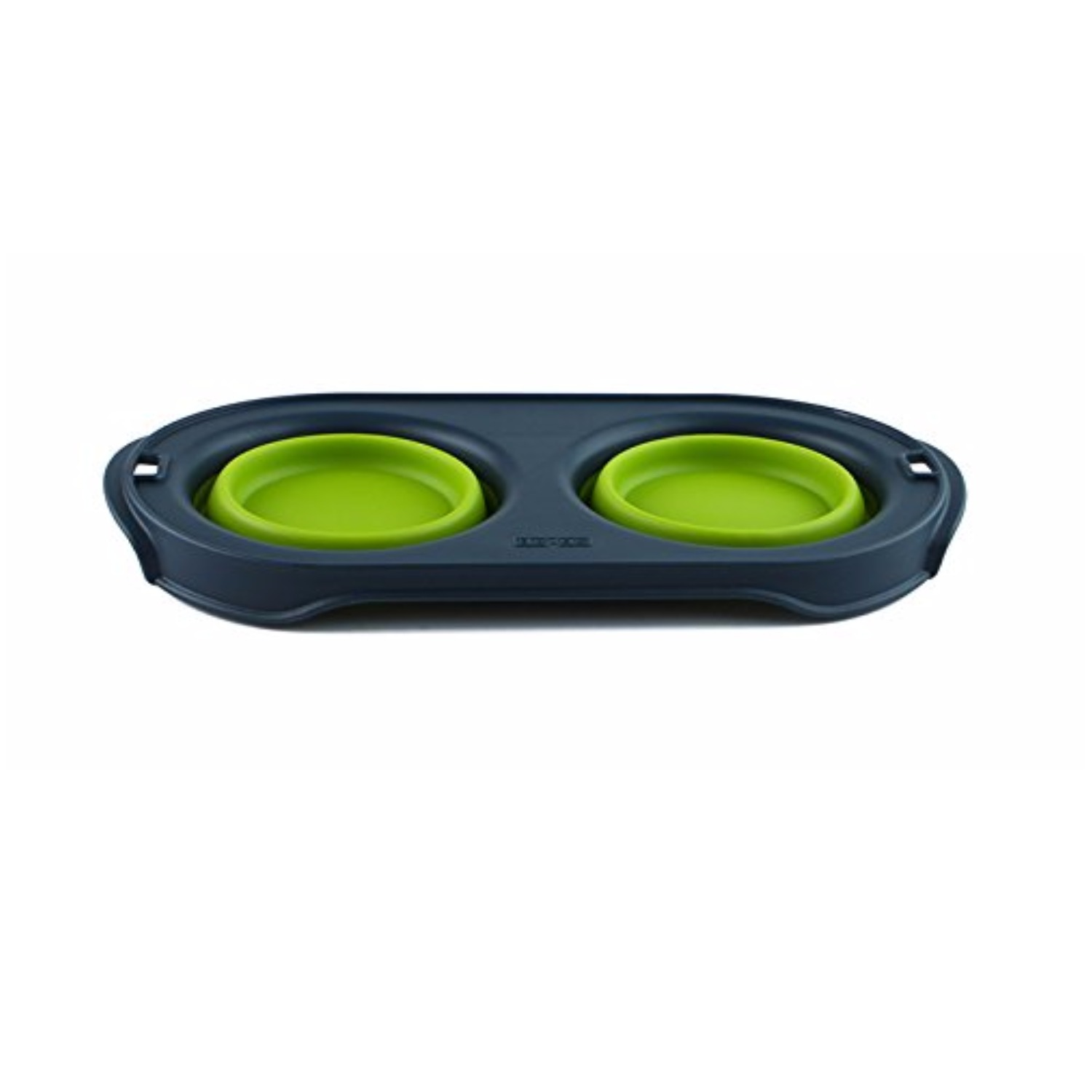 Dexas Popware for Pets Double Bowl Collapsible Travel Feeder