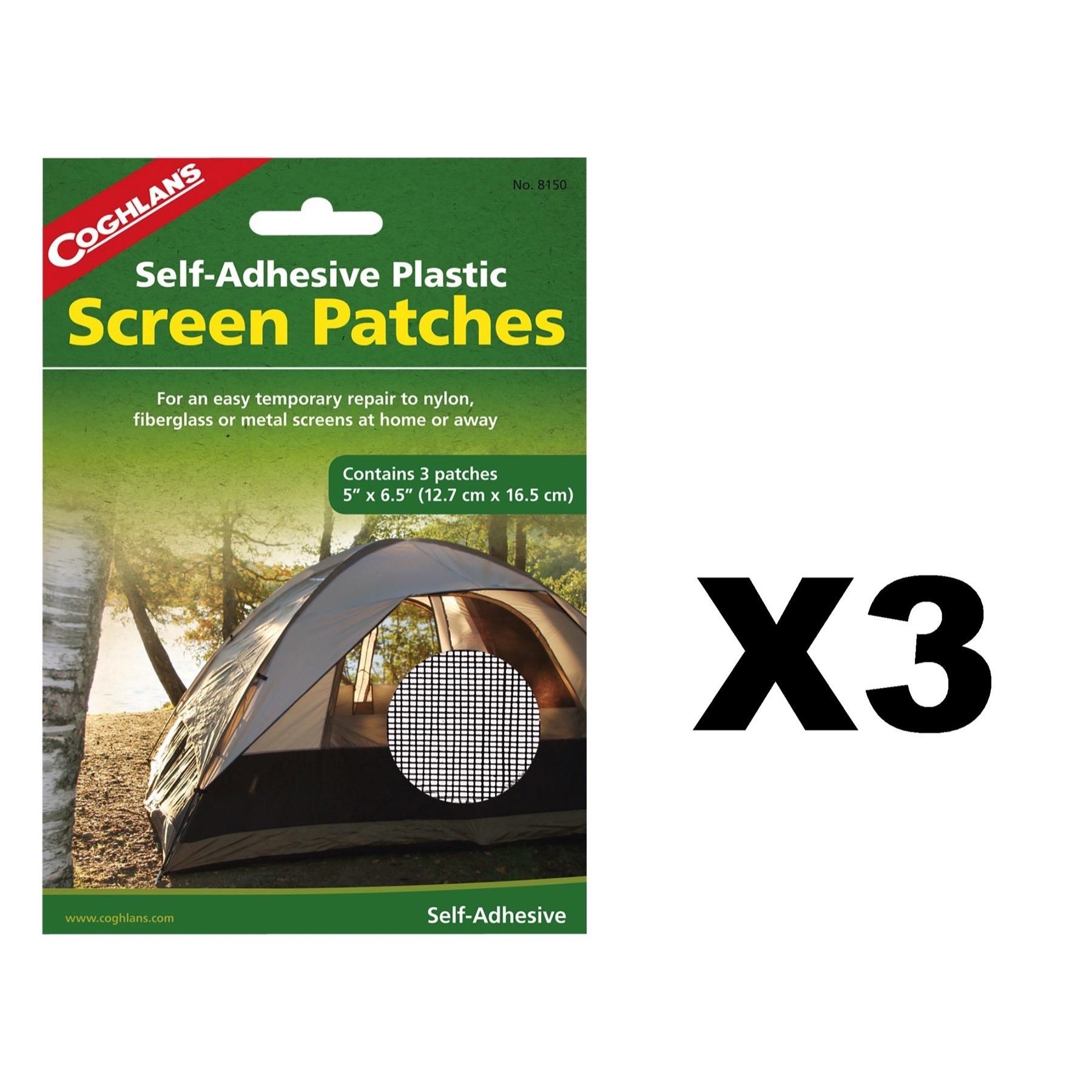 Coghlanu0027s Screen Patches Self-Adhesive Tent Repair Kit 3-Count 5 x6.  sc 1 st  PicClick & COGHLANu0027S Screen Patches Self-Adhesive Tent Repair Kit 3-Count 5 ...