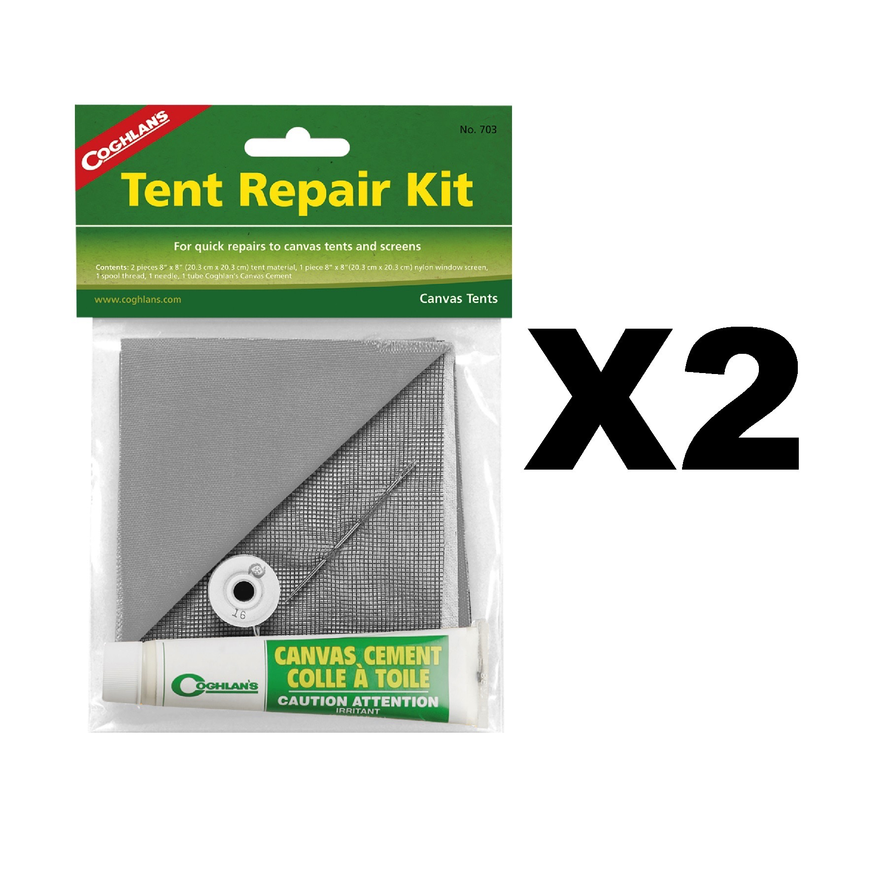 Availability In Stock - Ships in 1 business day  sc 1 st  eBay & Coghlanu0027s Tent Repair Kit for Canvas w/ Cement Patches Nylon ...