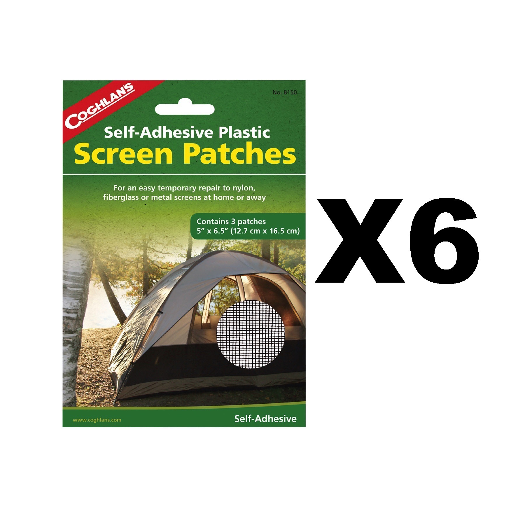 Image is loading Coghlan-039-s-Screen-Patches-Self-Adhesive-Tent-  sc 1 st  eBay & Coghlanu0027s Screen Patches Self-Adhesive Tent Repair Kit 5