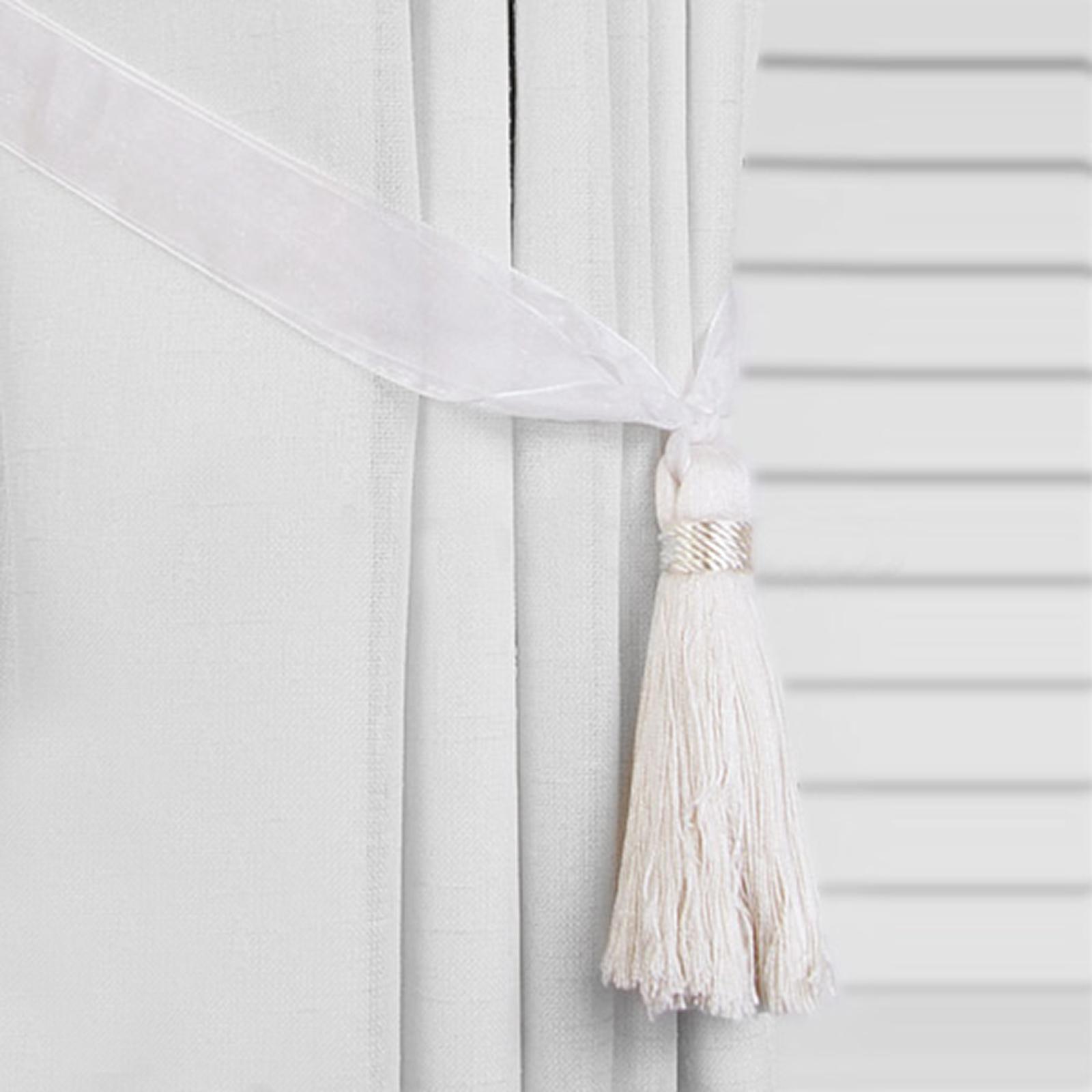 Tassel Tieback Organza Ribbon Curtain Tie Backs Ebay