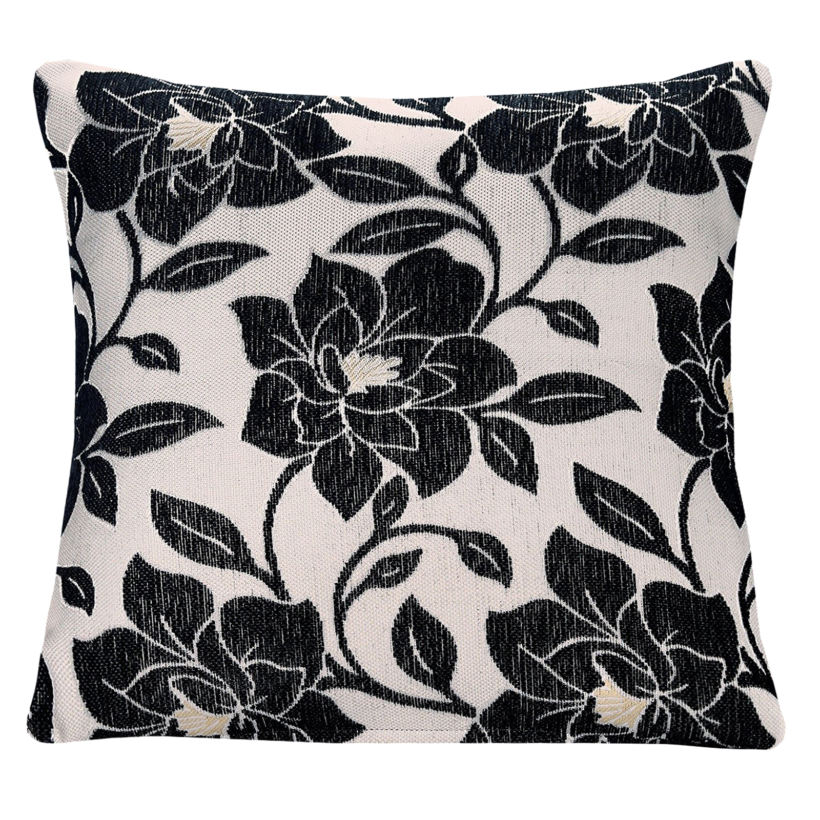 Modern Rich Peony Floral Chenille Cushion Cover – Decorative Sofa