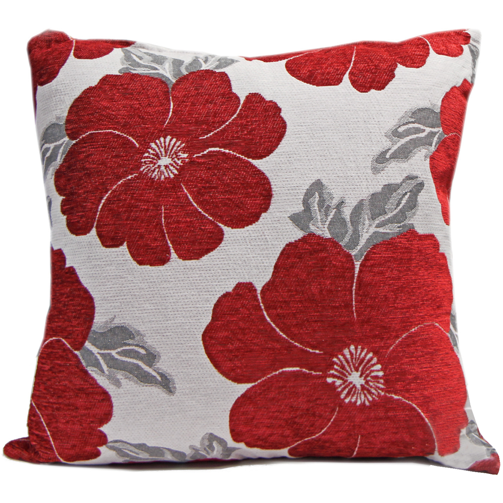 Chenille Poppy Cushions & Small Floral Sofa Bed Scatter