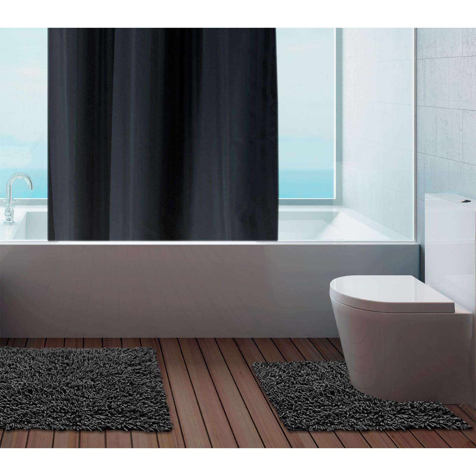 Interior bathroom bathroom mats set - 100 Cotton Bathroom Mats Set Washable Bath Amp