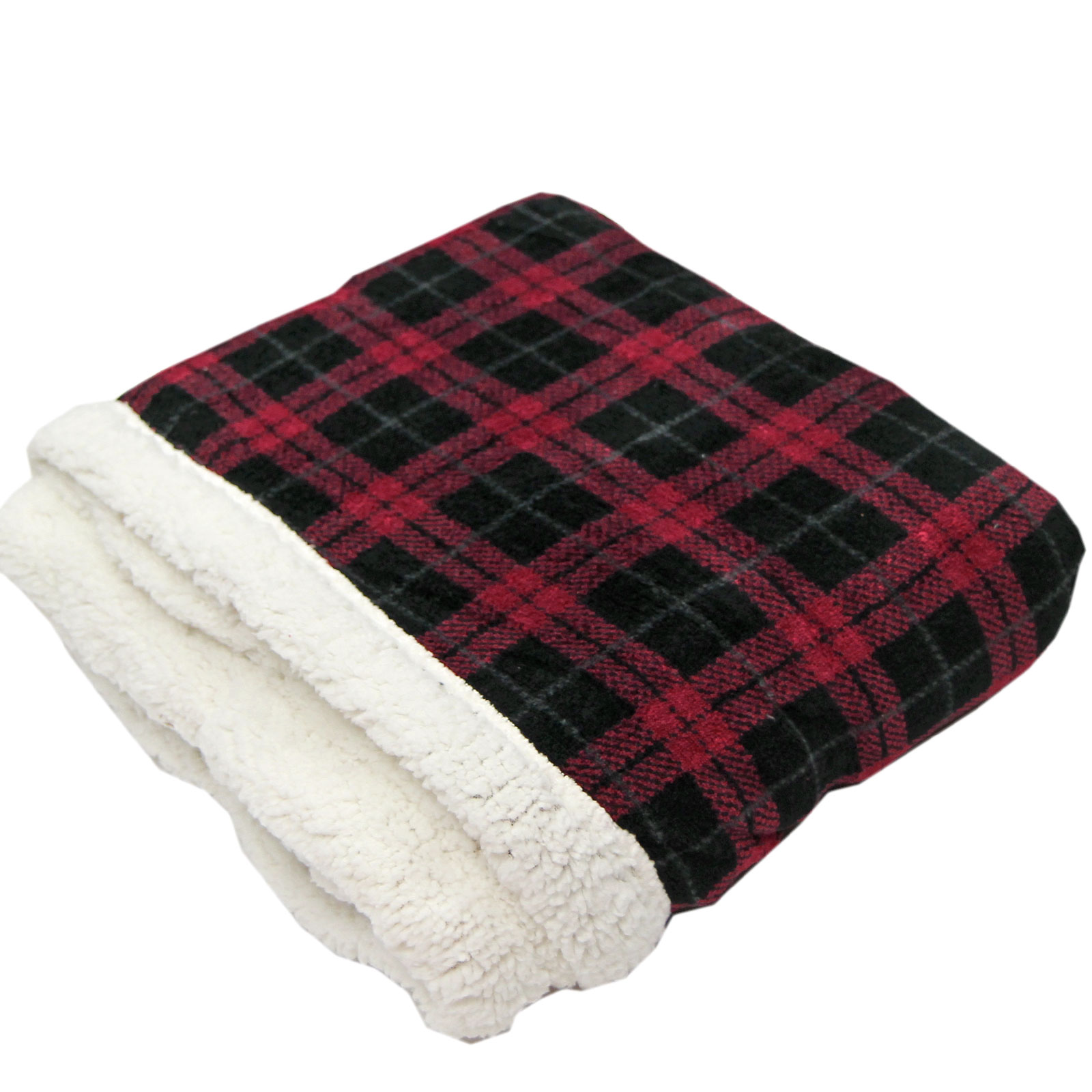 Tartan Check Sofa Bed Fleece Throw