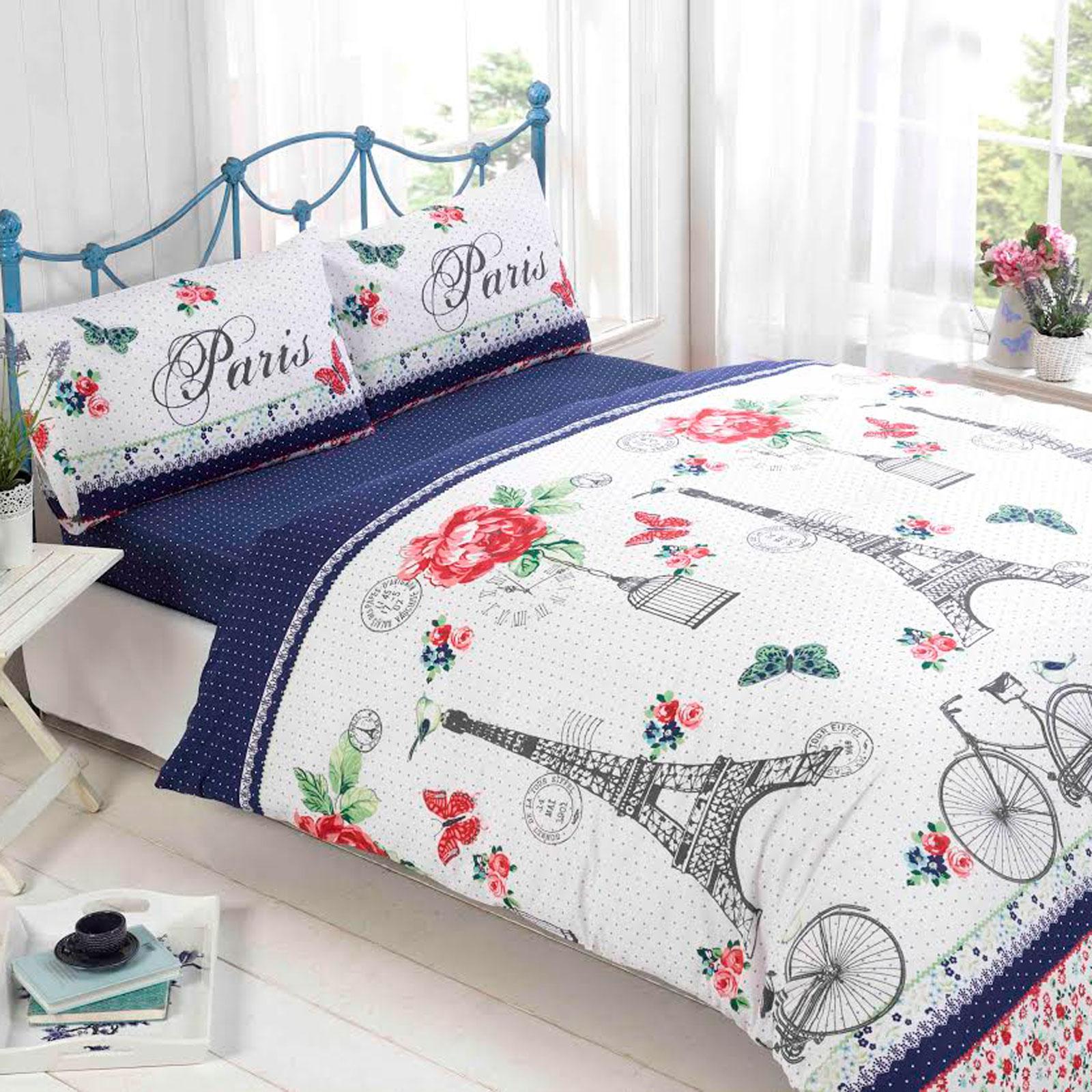 Unique Duvet Covers: Unique Paris Inspired Duvet Cover Bedding Set With
