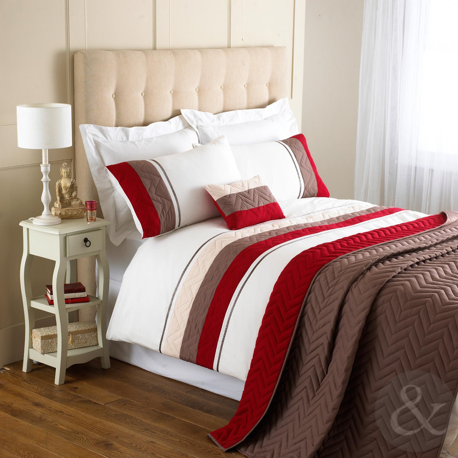 chevron duvet cover contemporary bedding modern quilt cover bed set ebay. Black Bedroom Furniture Sets. Home Design Ideas