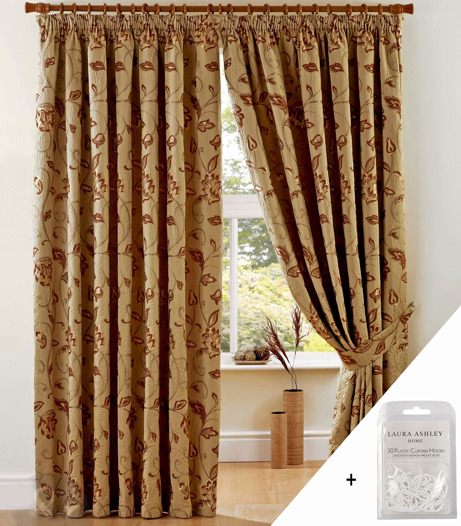 Luxury Heavy Weight Jacquard Curtains Pencil Pleat Lined