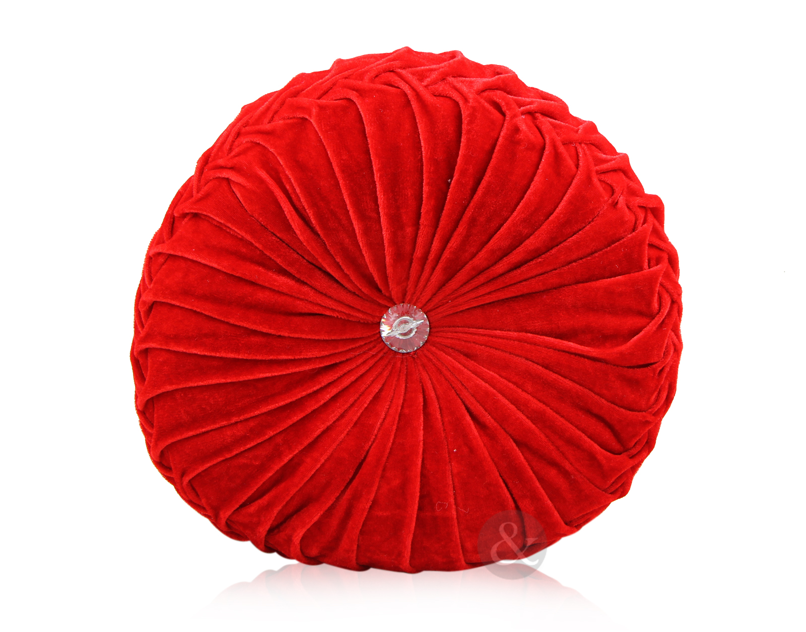 Round Red Decorative Pillows : Round Velvet Cushions Luxury Diamante Chic Filled Scatter Cushion eBay