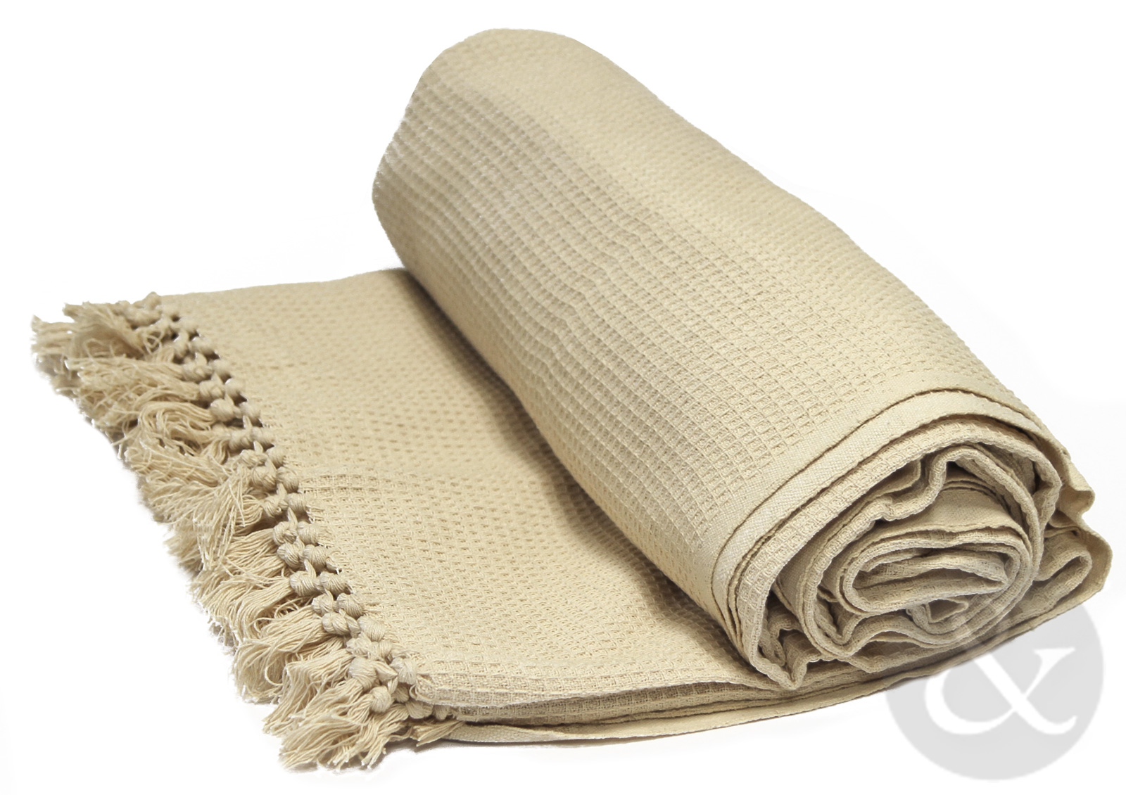 Soft 100% Cotton Honey Comb Throw With Tasselled Edge