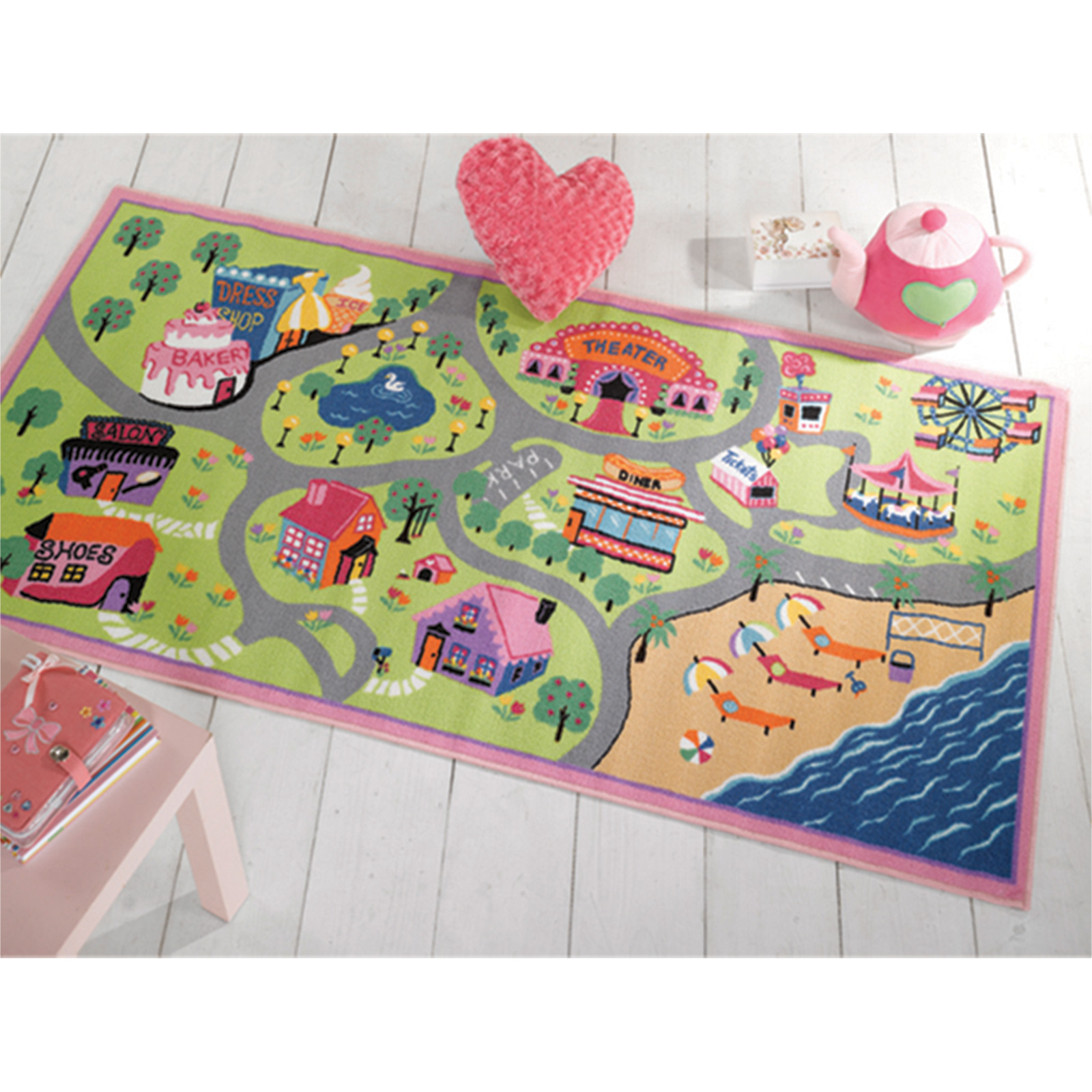 Kids Fun Playtime Carpet Rug For Childrens Bedroom
