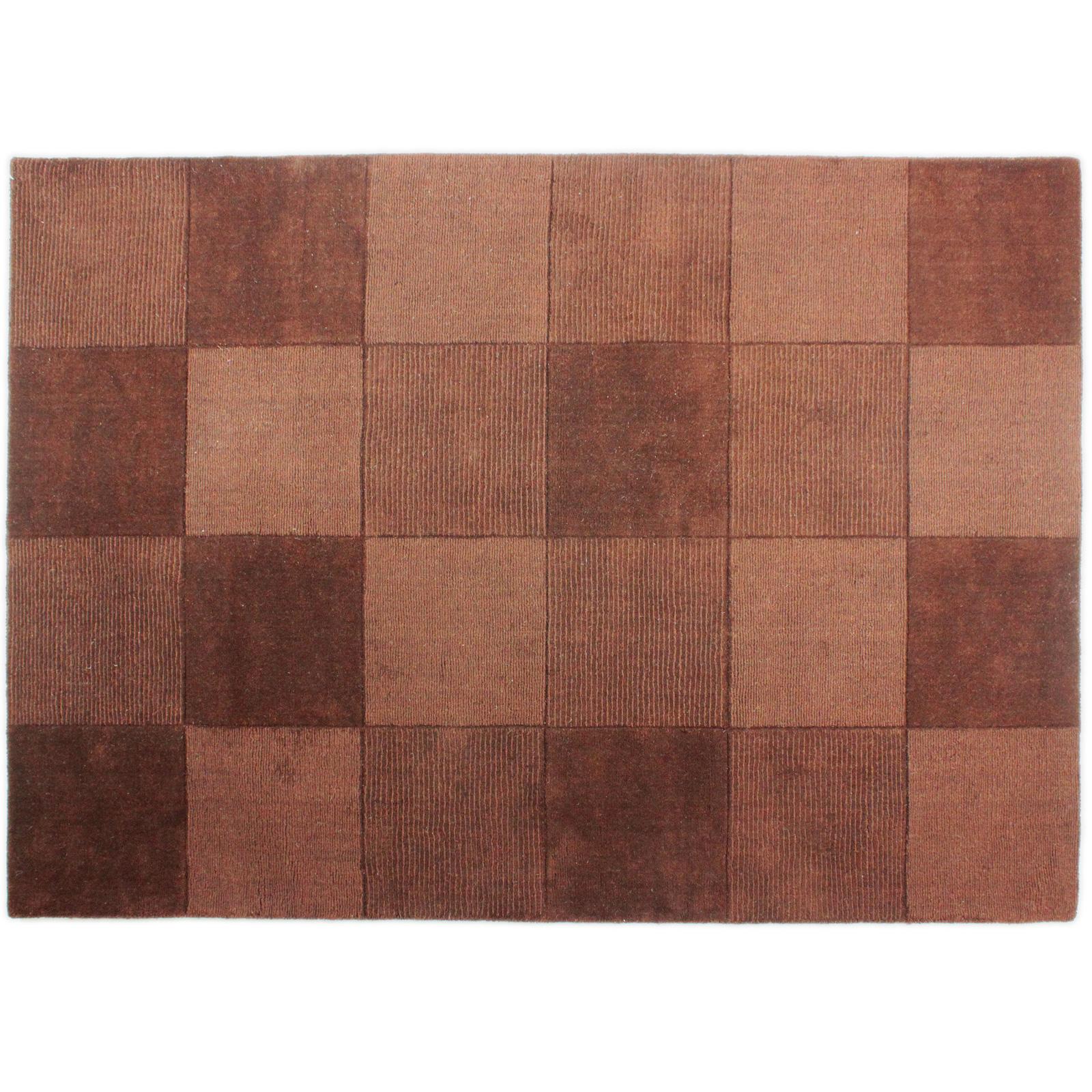 Simple & Contemporary Square Design Carpet Rug – 100% Wool ...