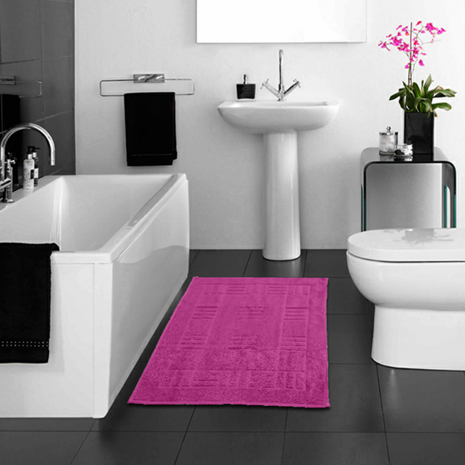 100 Egyptian Cotton Bathroom Mats Rugs Super Soft