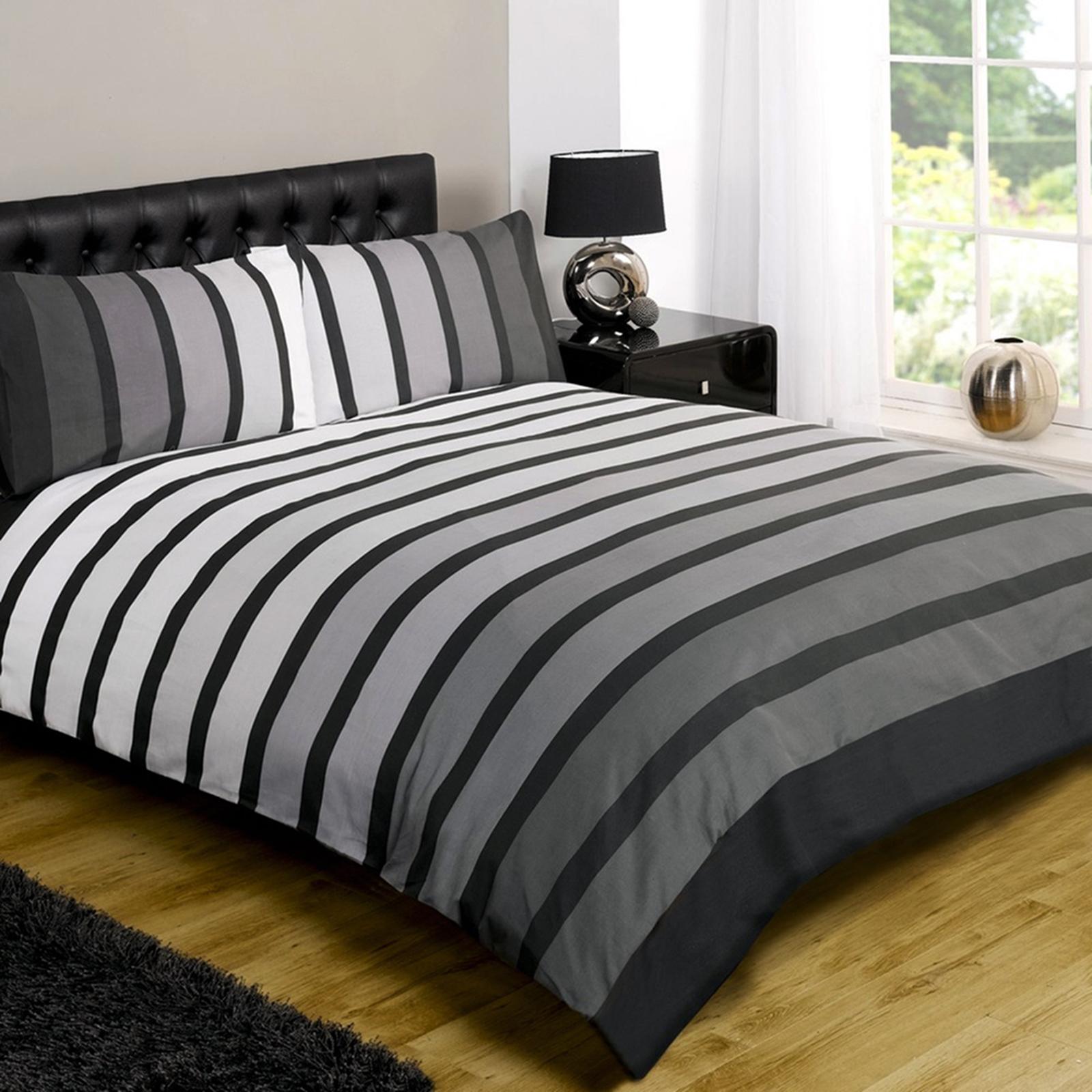 Modern quilt bedding - Striped Poly Cotton Duvet Cover Modern Quilt Cover