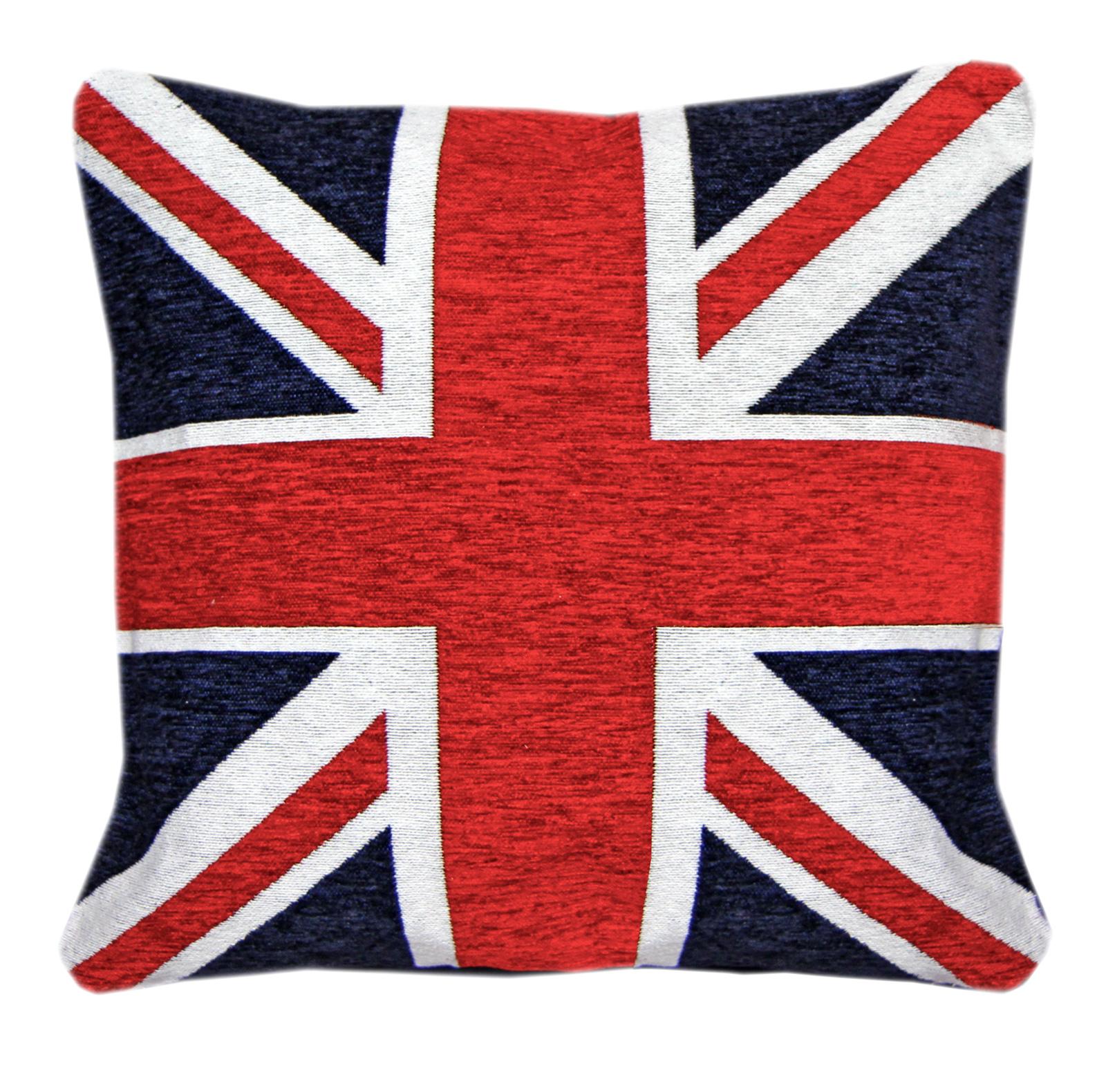 Keep Calm & Union Jack Cotton Chenille Cushion Cover – 18x18
