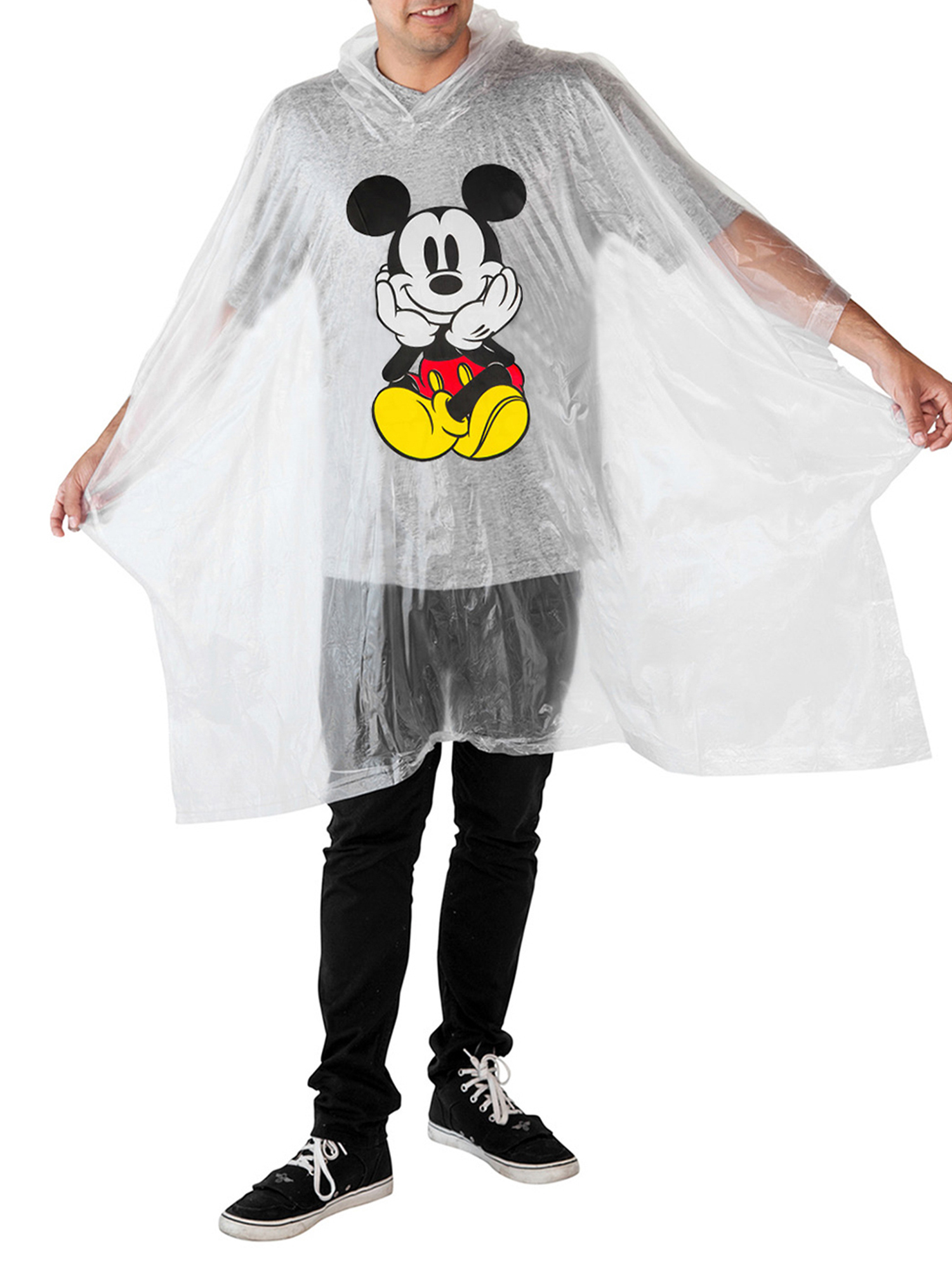 Adult-Kids-Unisex-Mickey-Mouse-Rain-Ponchos-4-PACK-Front-Back-CHOOSE thumbnail 11