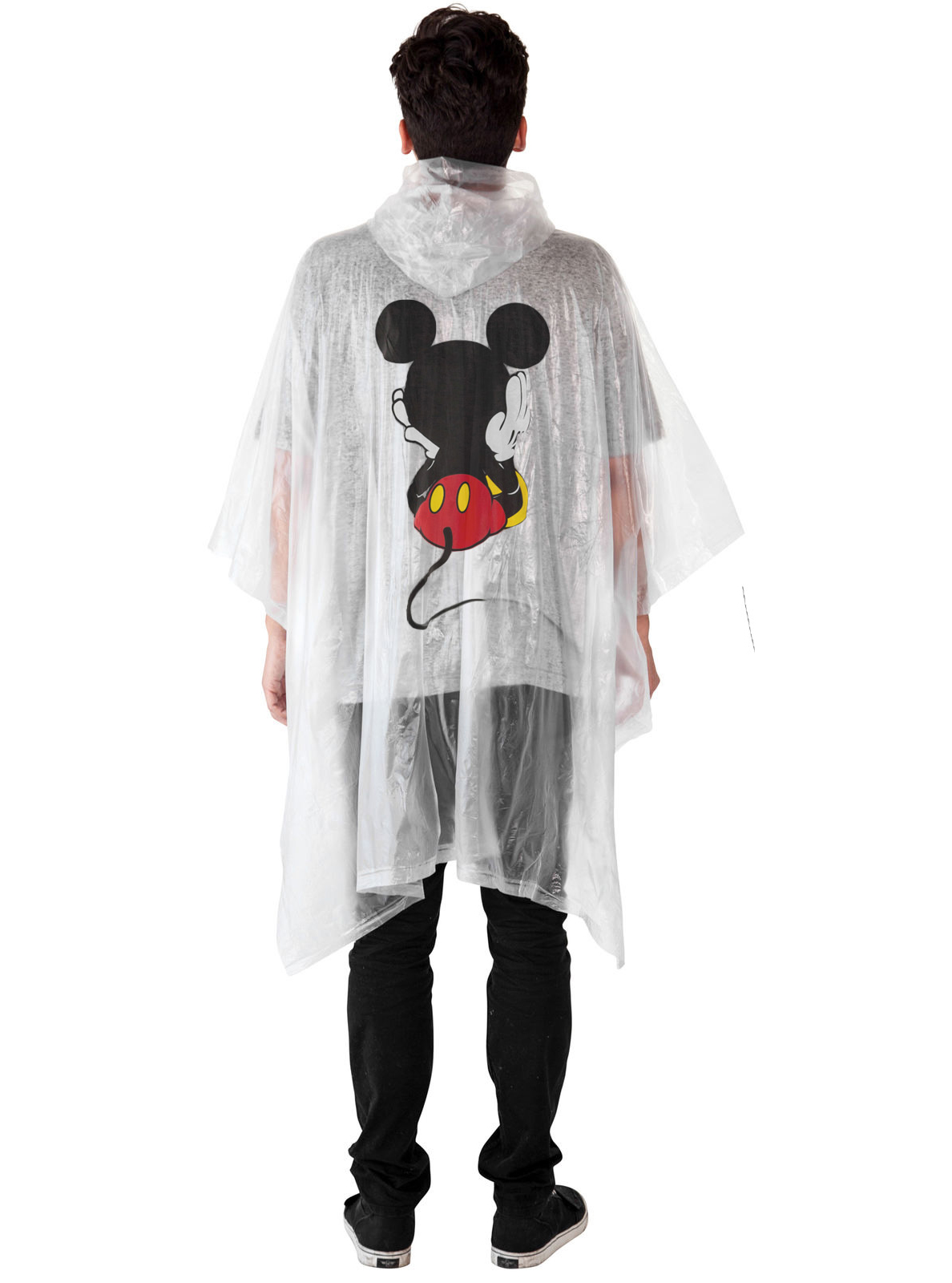Adult-Kids-Unisex-Mickey-Mouse-Rain-Ponchos-4-PACK-Front-Back-CHOOSE thumbnail 4