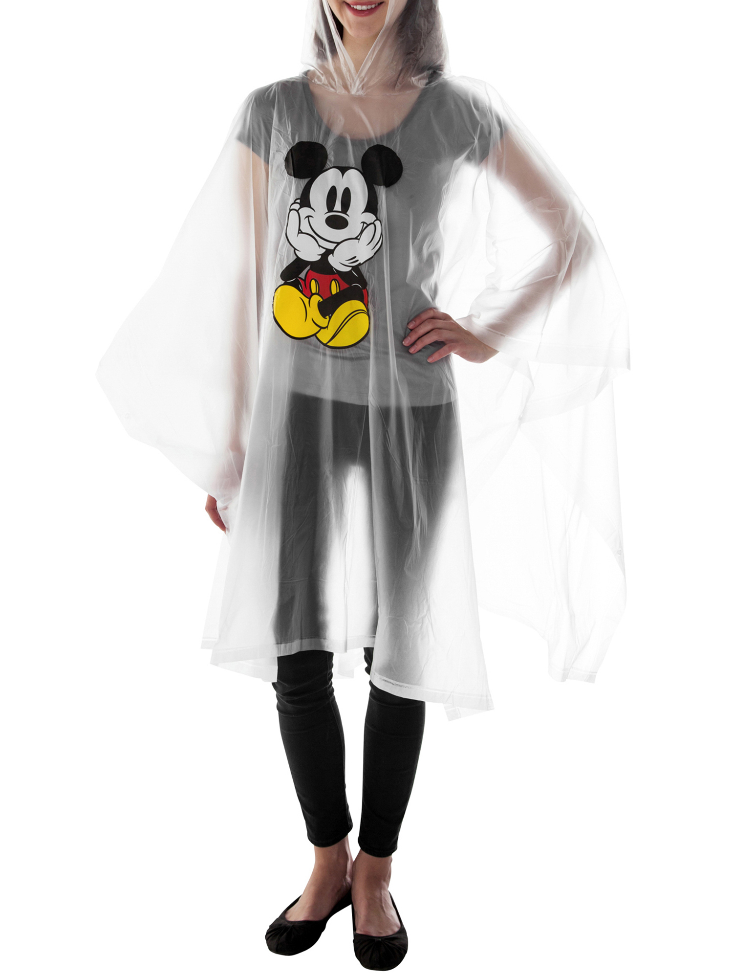 Adult-Kids-Unisex-Mickey-Mouse-Rain-Ponchos-4-PACK-Front-Back-CHOOSE thumbnail 13