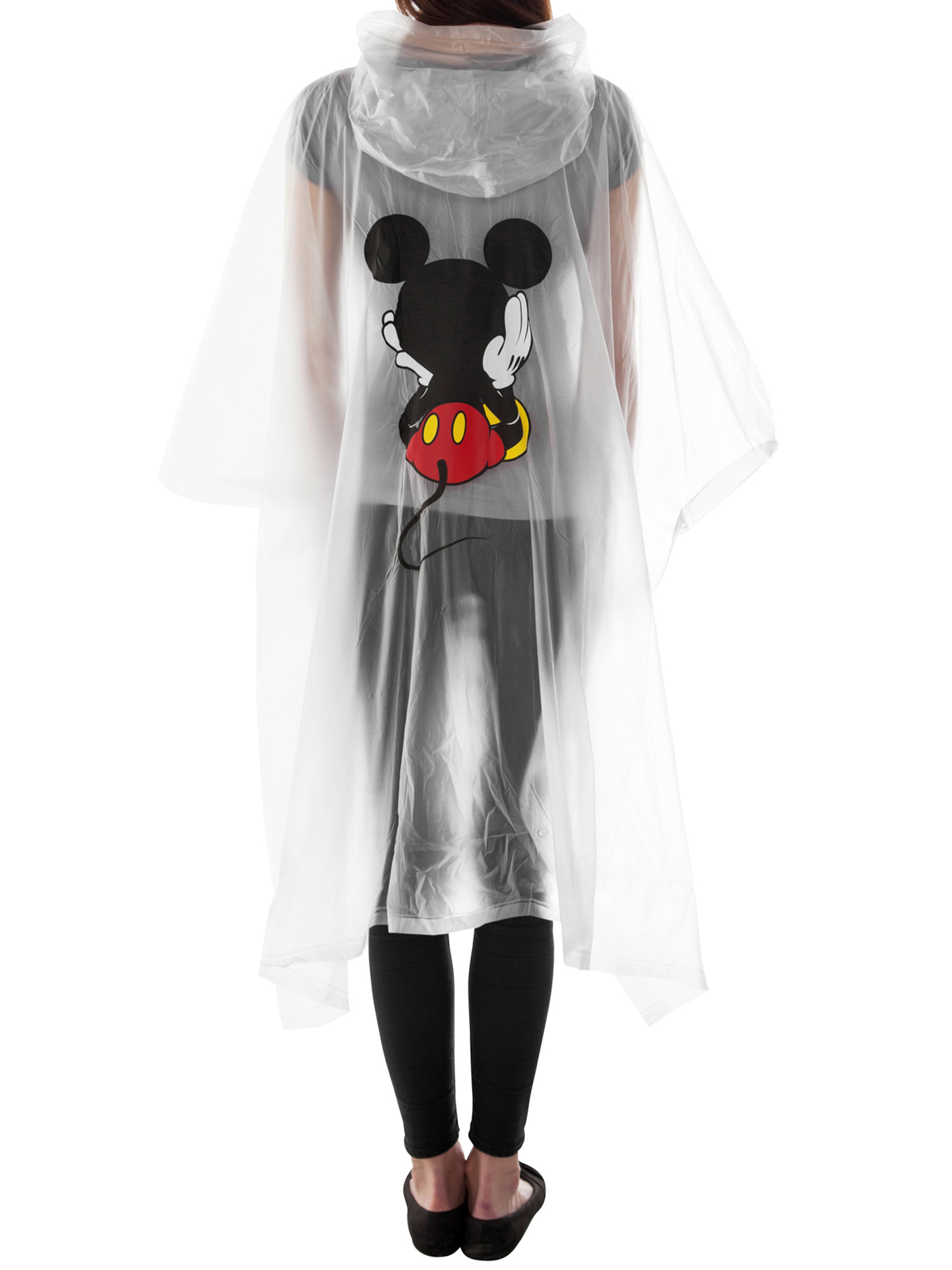 Adult-Kids-Unisex-Mickey-Mouse-Rain-Ponchos-4-PACK-Front-Back-CHOOSE thumbnail 5