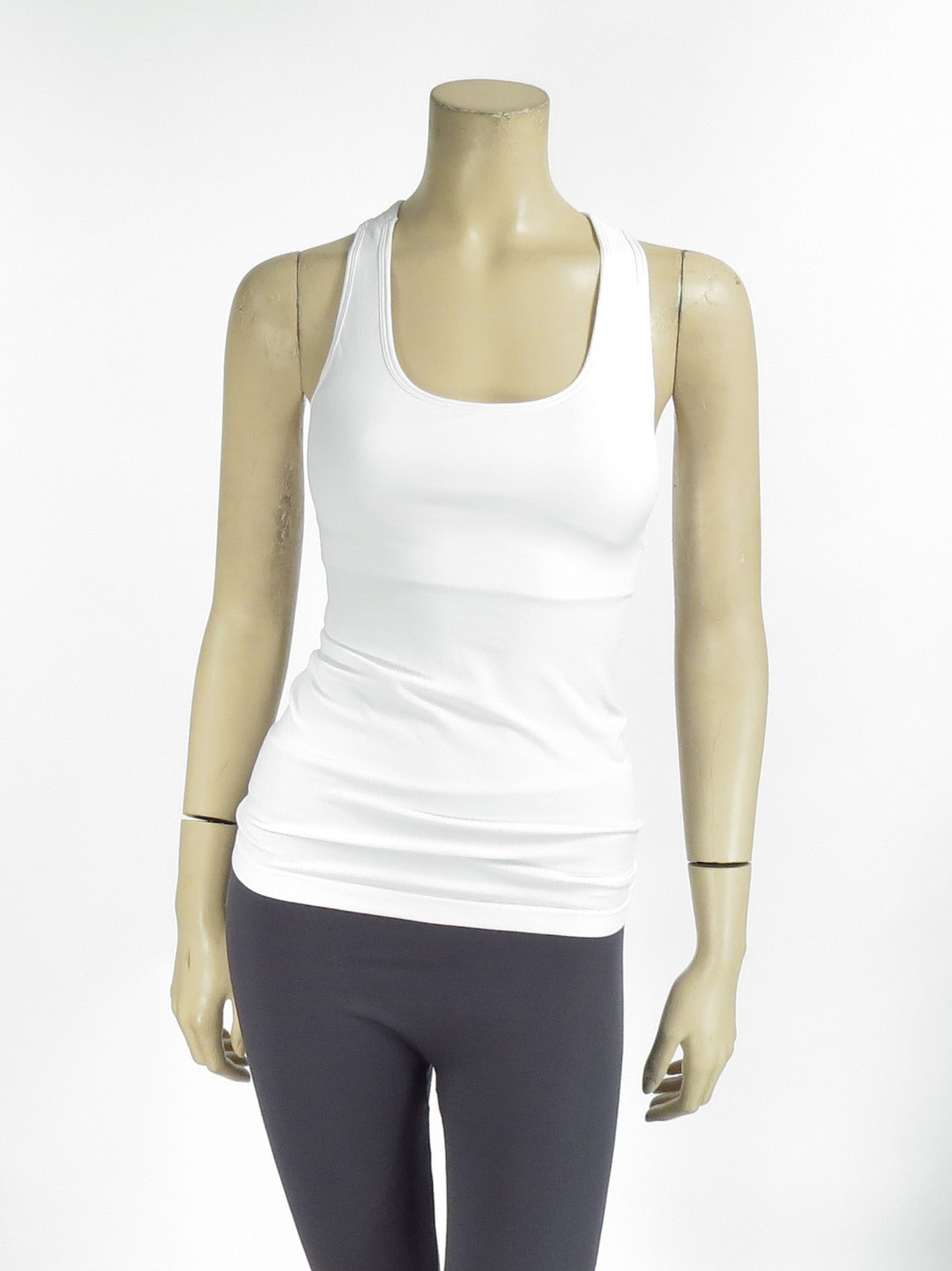 Padded Racerback Tank Top Built In Shelf Bra Free Size