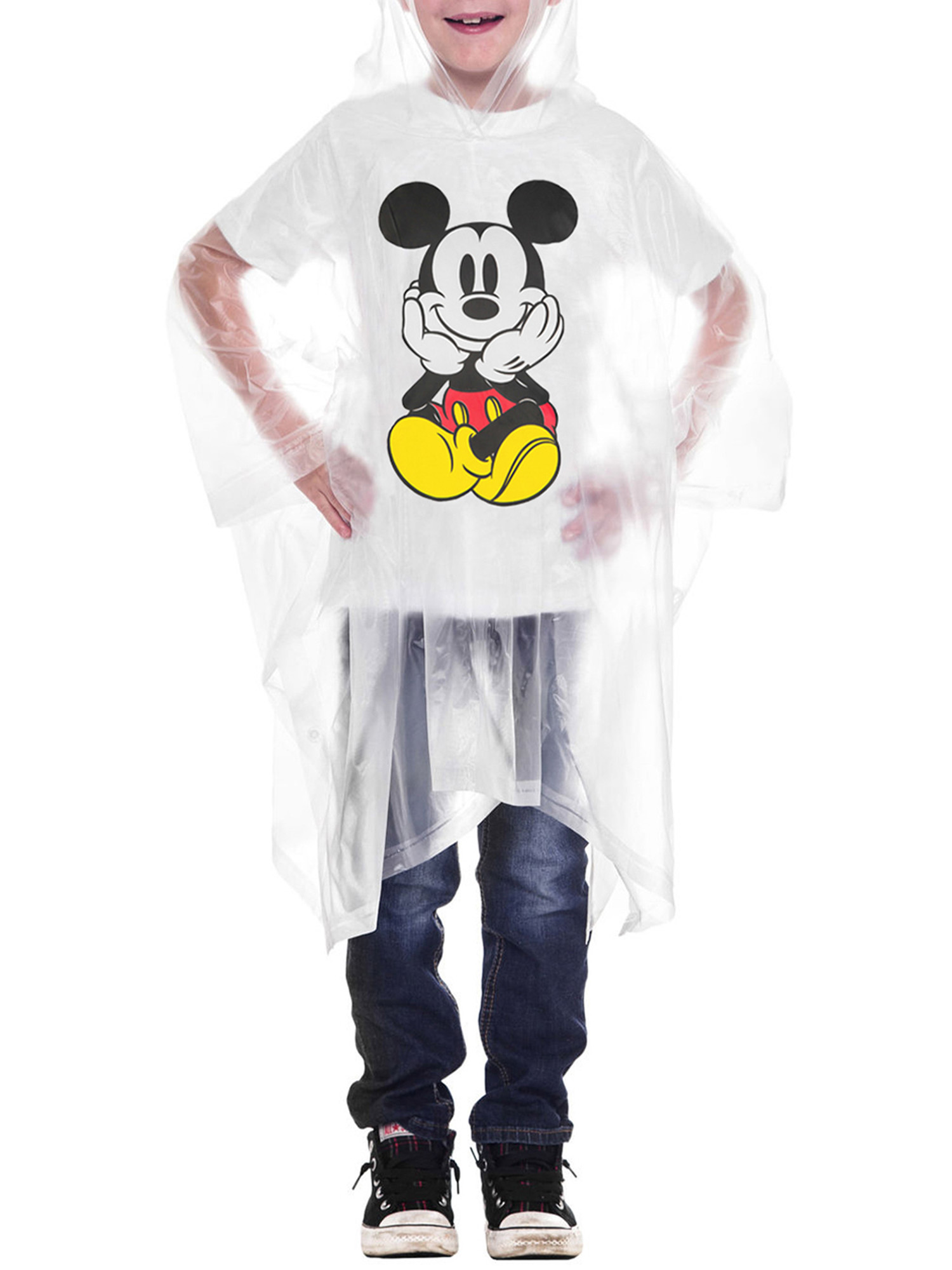 Adult-Kids-Unisex-Mickey-Mouse-Rain-Ponchos-4-PACK-Front-Back-CHOOSE thumbnail 6