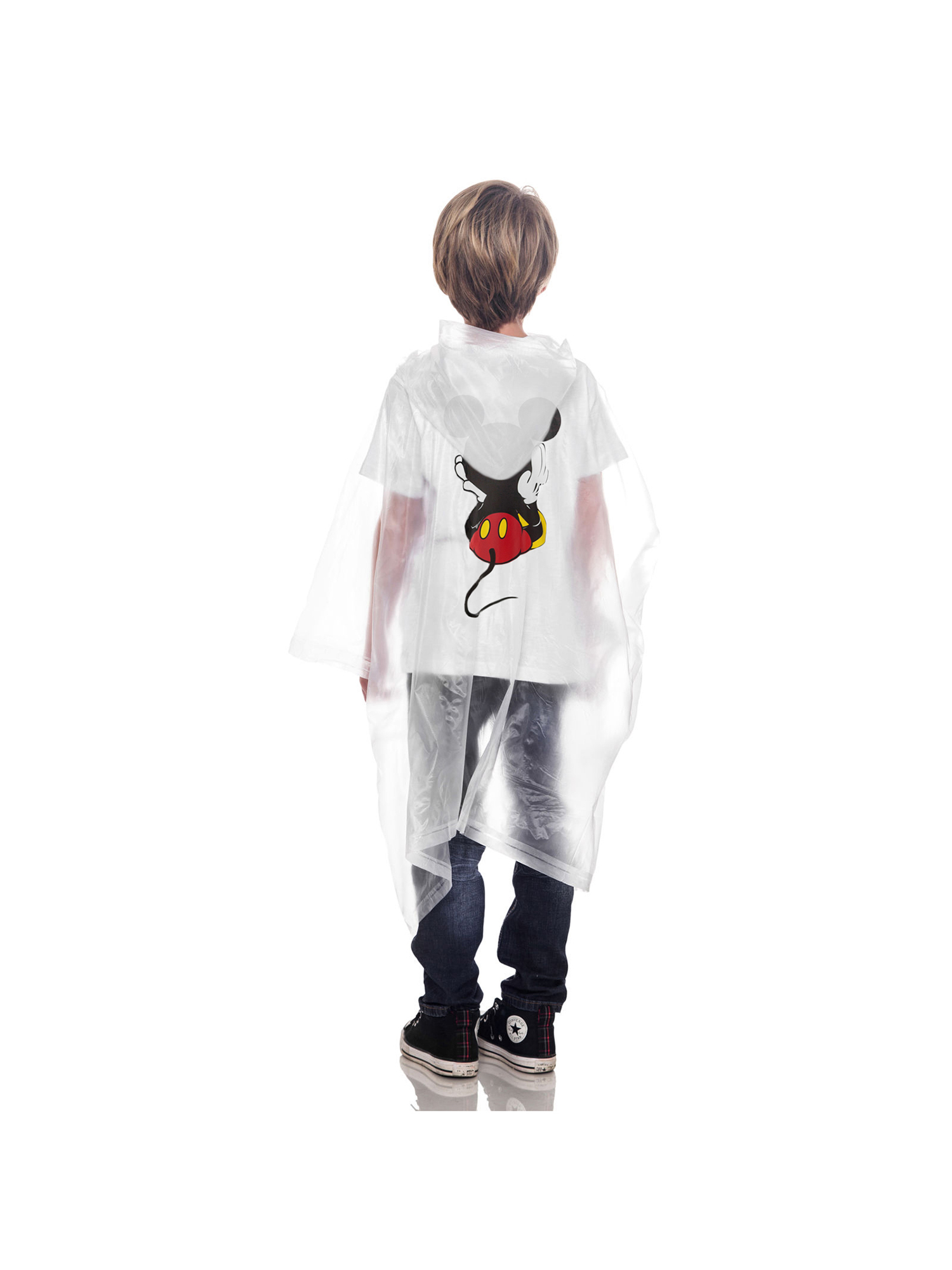 Adult-Kids-Unisex-Mickey-Mouse-Rain-Ponchos-4-PACK-Front-Back-CHOOSE thumbnail 7