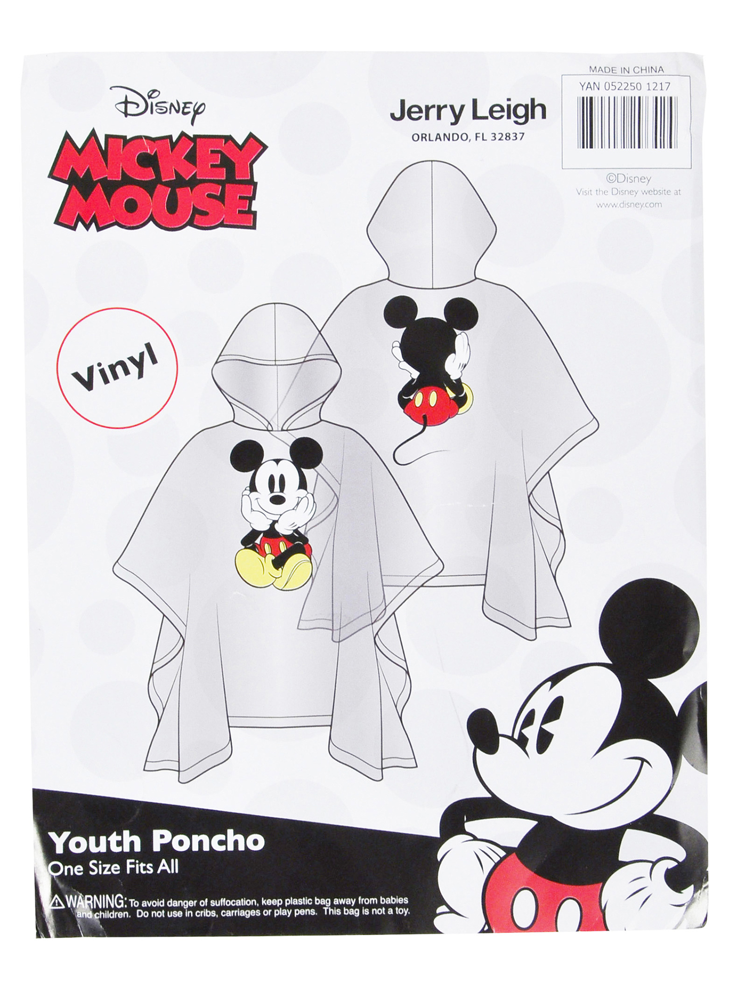 Adult-Kids-Unisex-Mickey-Mouse-Rain-Ponchos-4-PACK-Front-Back-CHOOSE thumbnail 21