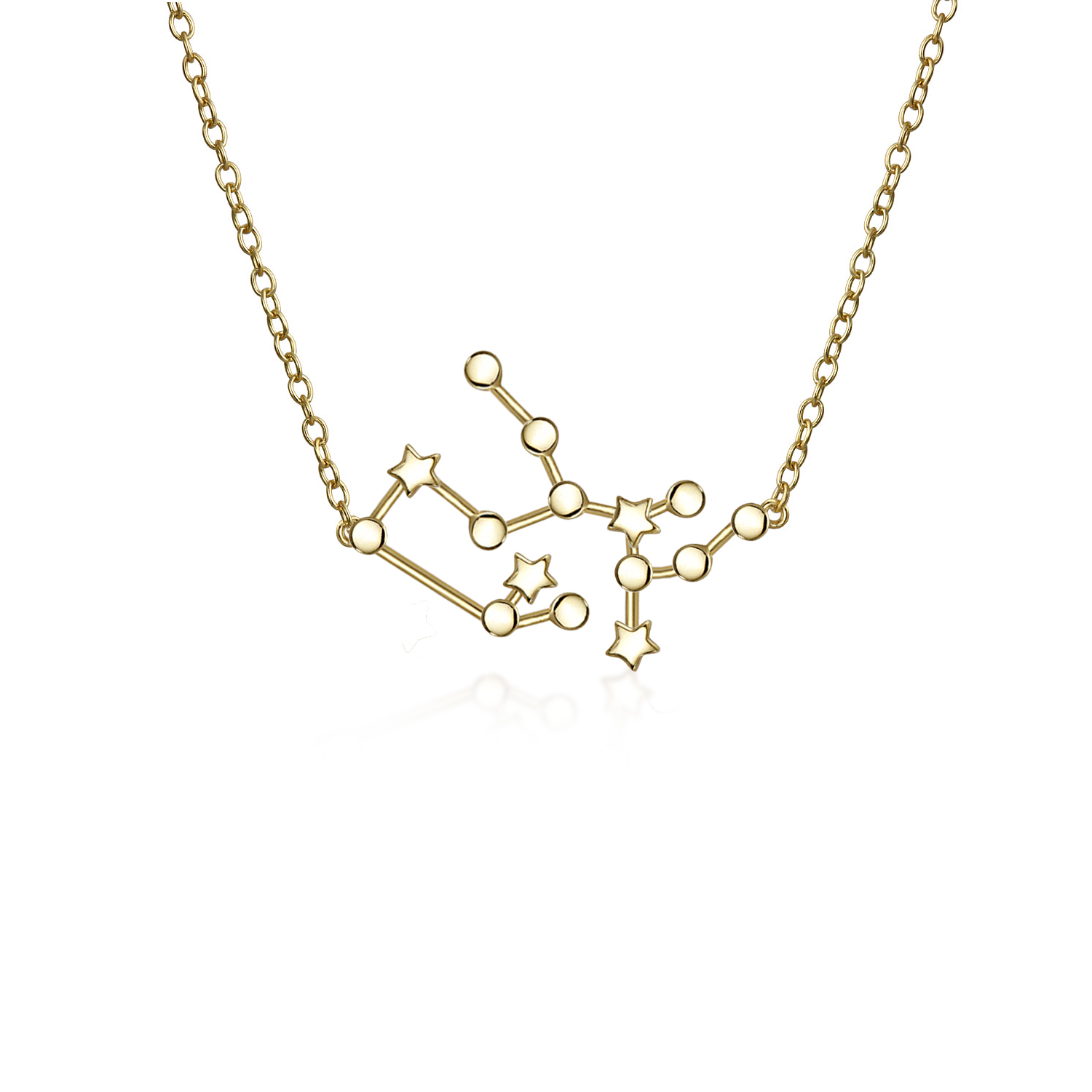 Details about Sagittarius Constellation Astrology Zodiac Necklace 14K Gold  Plated Pendant