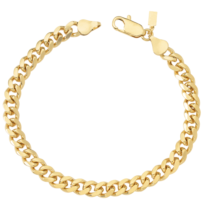 18K Gold Plated Cuban/Curb Link Chain Necklace or Bracelet ...