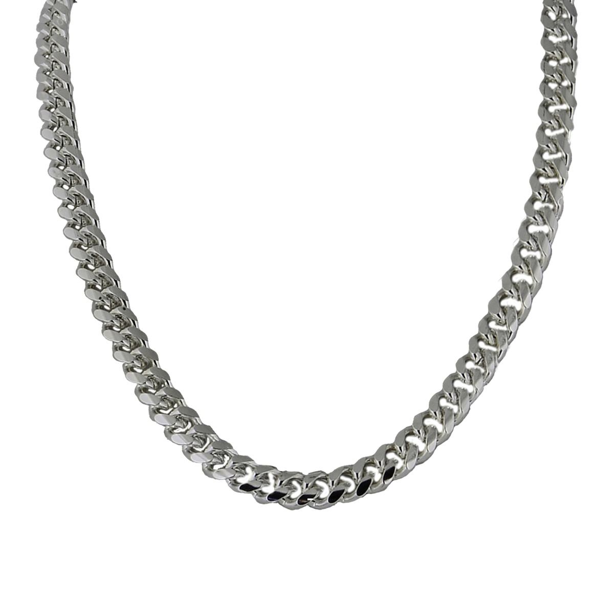 Silver Chain Link Bracelet: Silver Plated Cuban/Curb Link Chain Necklace Or Bracelet