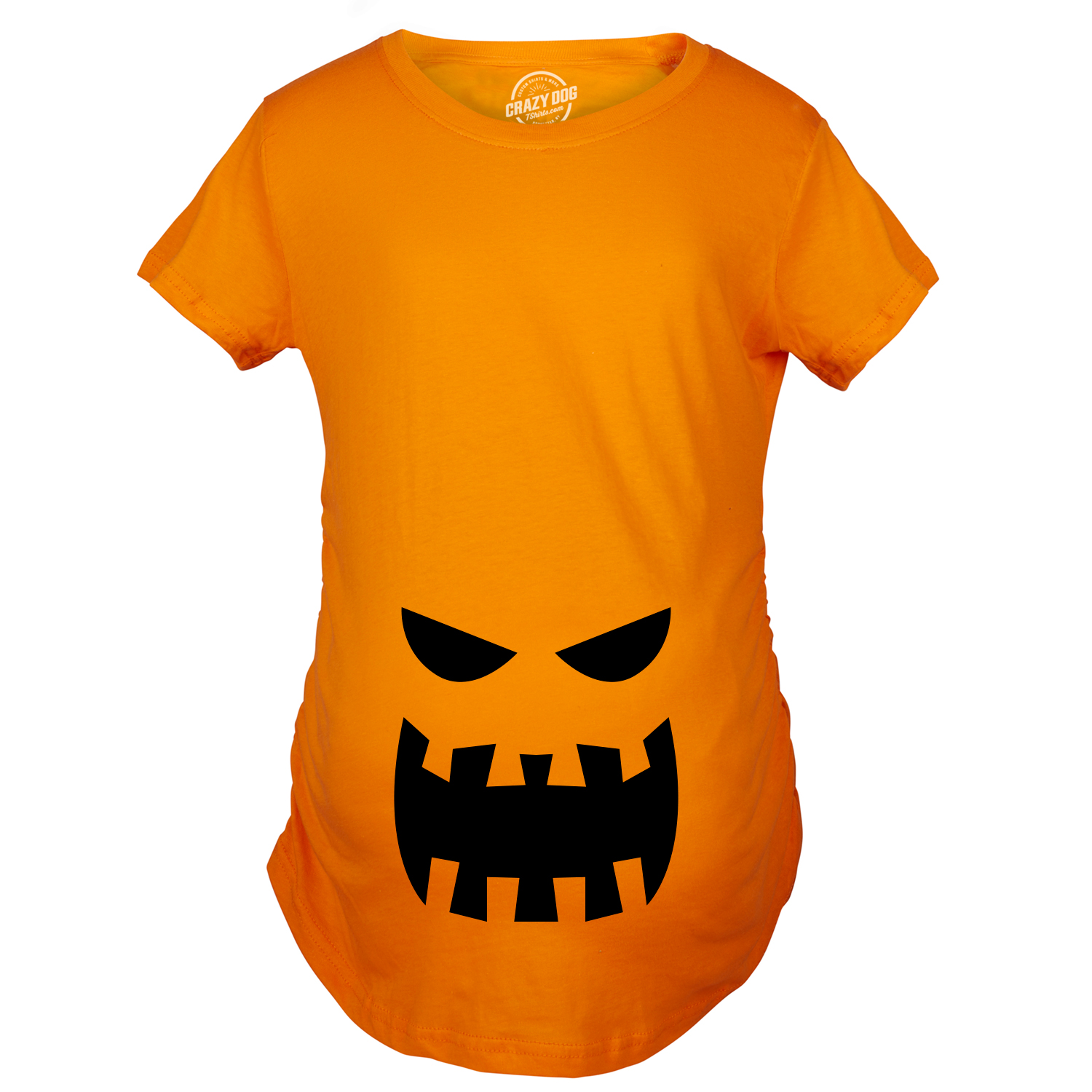 e70e389d Crazy Dog Tshirts Maternity Scary Teeth JackOLantern T-Shirt Cute Halloween Pregnancy  Tee