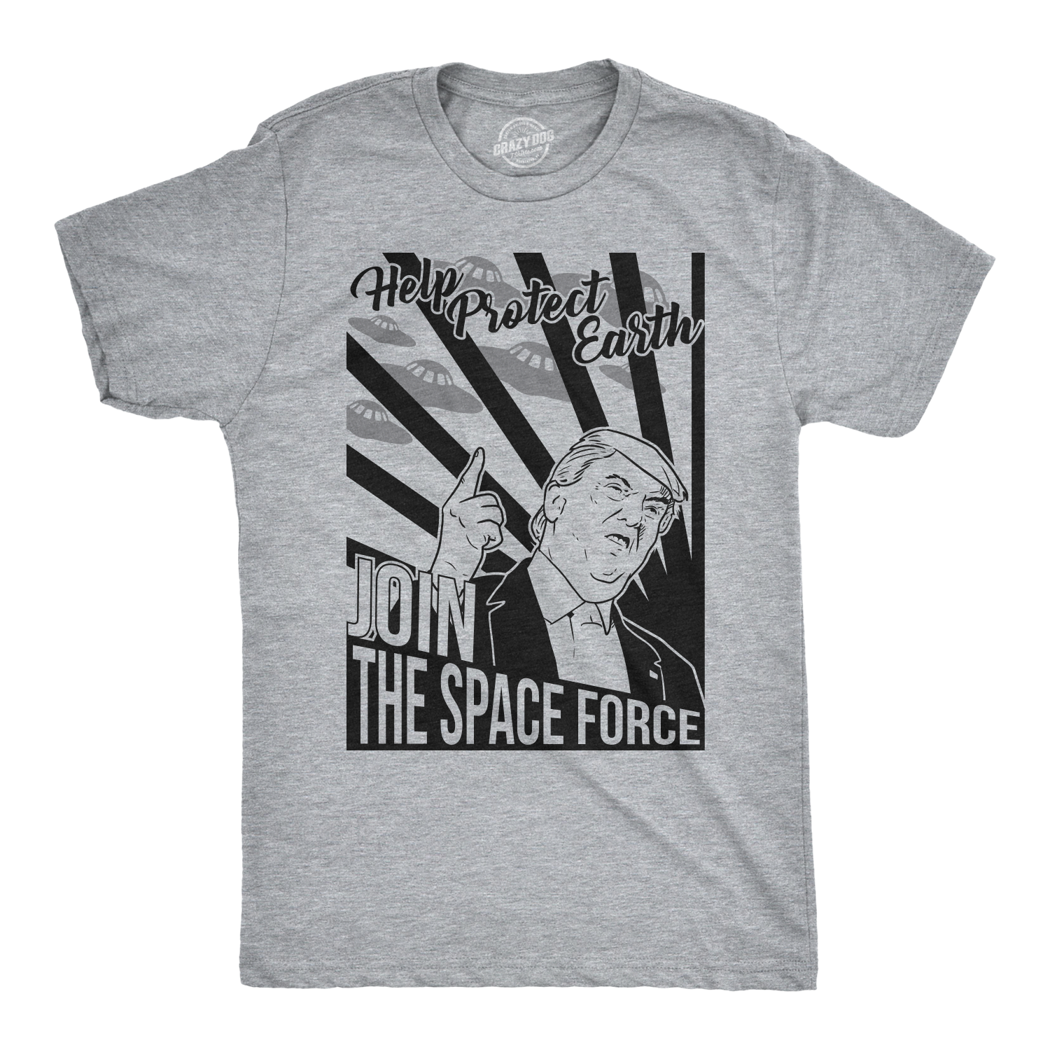 1ec4dacf Mens Join The Space Force Tshirt Funny Trump USA Politics Tee For Guys -S