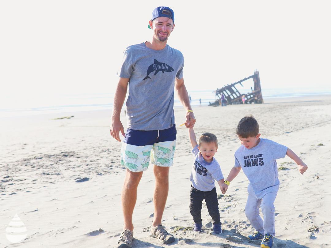 478b821d Crazy Dog Tshirts Crazy Dog Tshirts Mens Daddy Shark Tshirt Cute Funny  Family Ocean Beach Summer