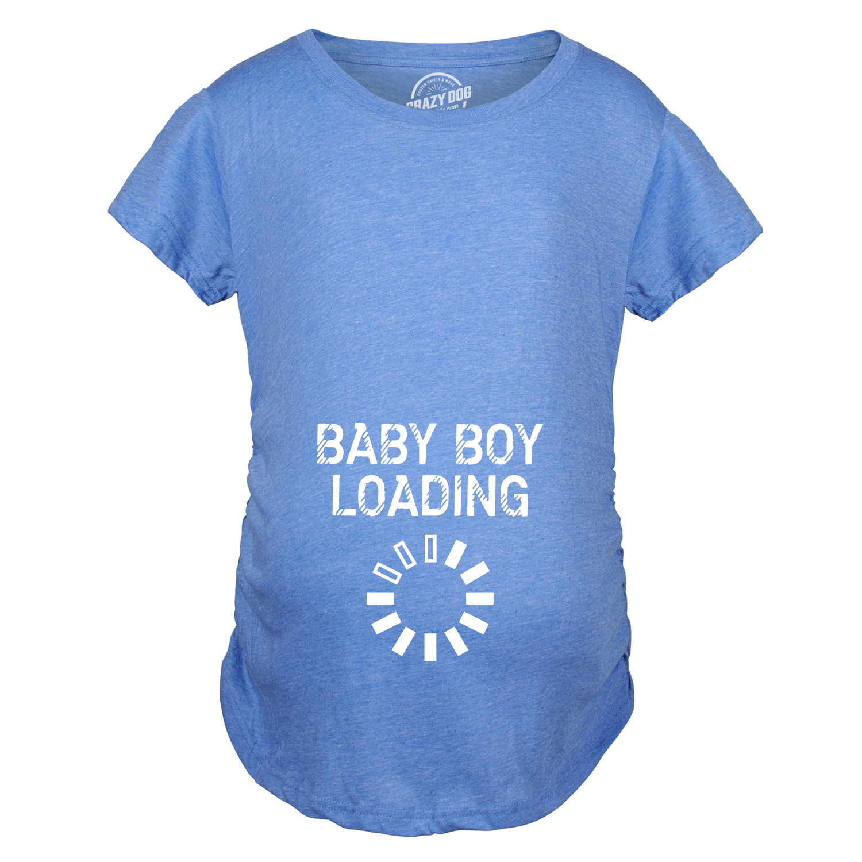660ffea5da187 Maternity Baby Boy Loading Funny Nerdy Pregnancy Announcement T ...